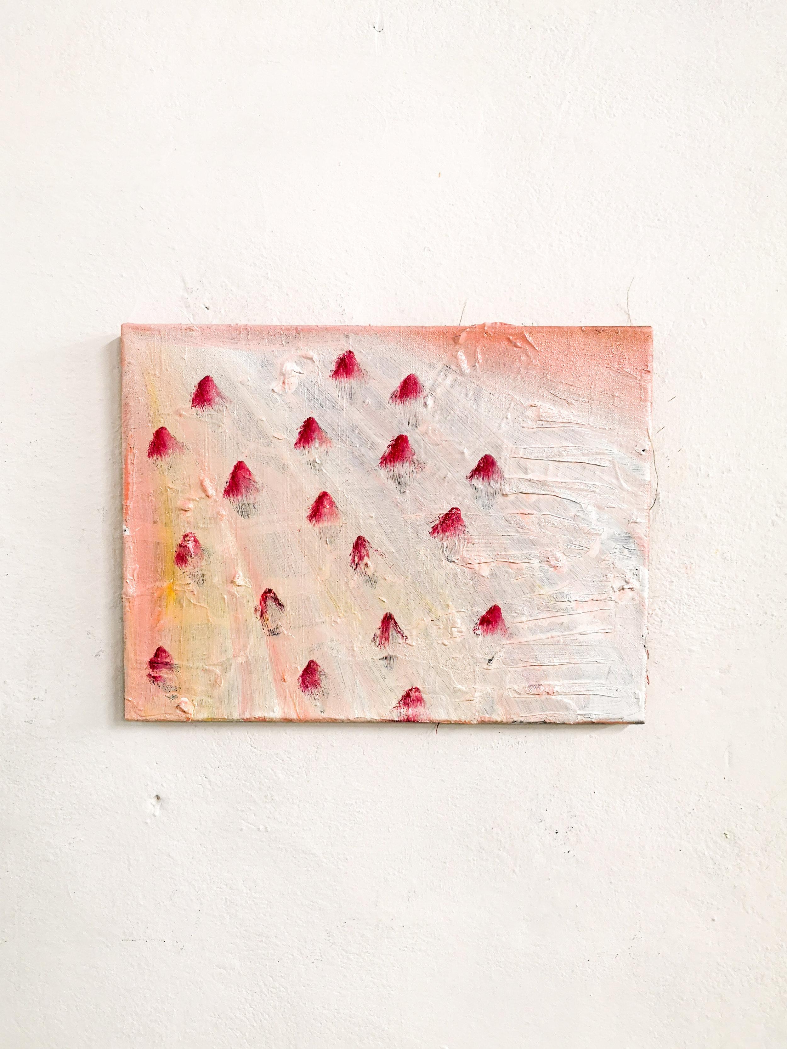 """strawberry fields""    30x40cm oil on canvas"