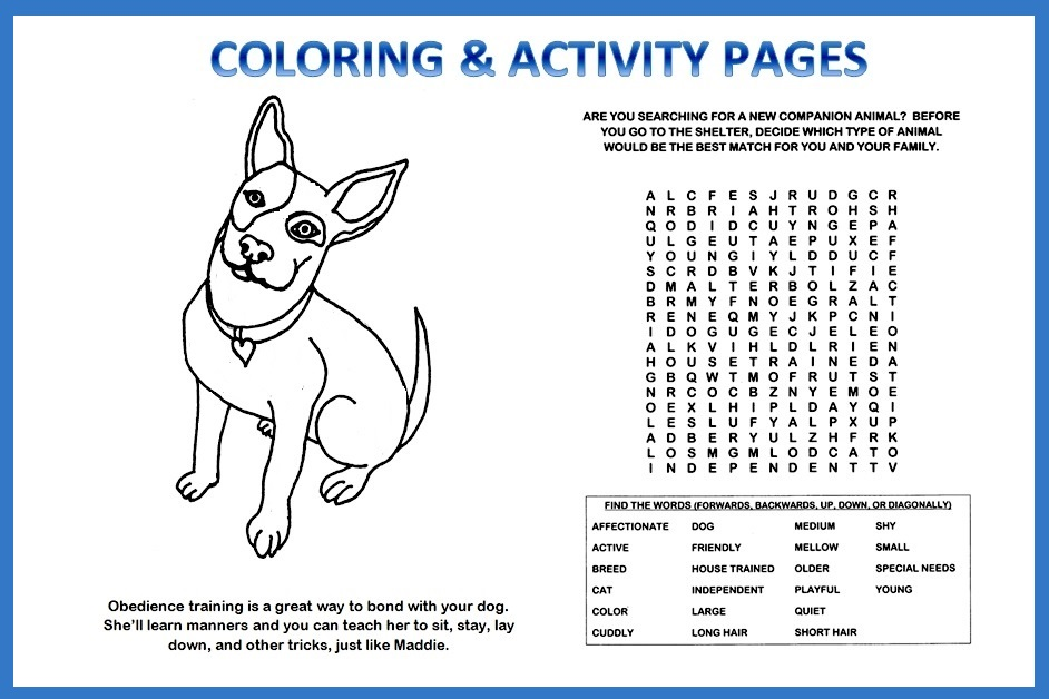 COLORING AND ACTIVITY PAGES TO PRINT -