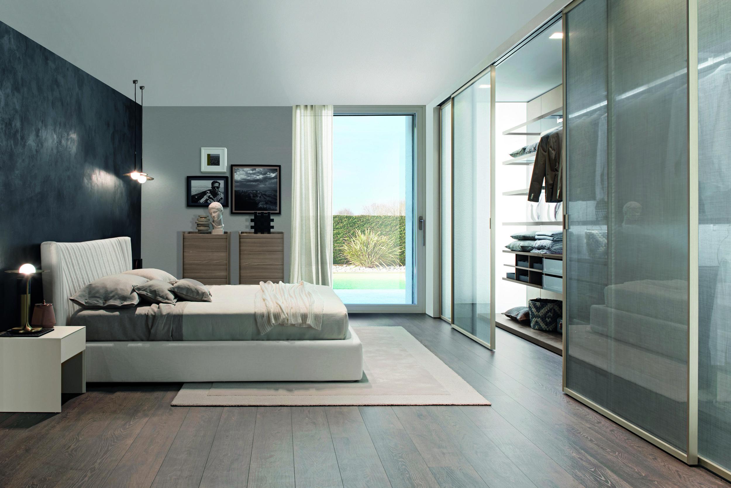 custom closet modern bedroom