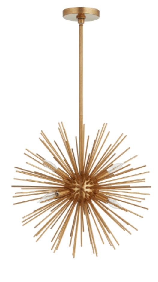 starburst gold pendant