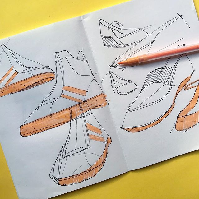 Here's some random shoe sketches from this weekend. I forgot how much fun they are to draw. • • #draw #drawing #drawings #sketch #sketchbook #sketches #id #idsketching #design #industrialdesign #handsketching #diseño #fineart #art #artist #artistsoninstagram #shoedesign #sneakers #footweardesign #igsneakercommunity