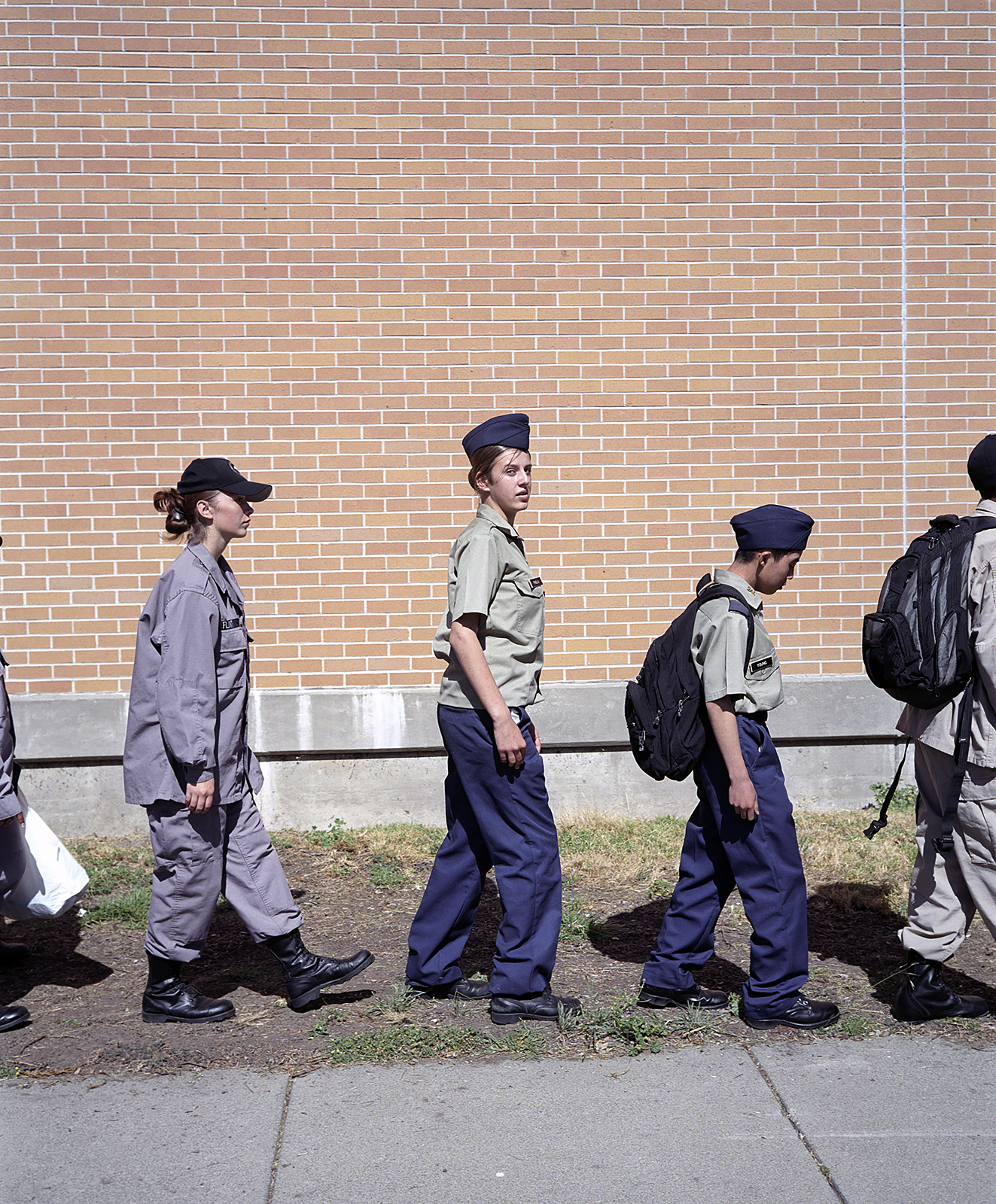 Cadets of the Oakland Military Institute, for Der Spiegel, 2004