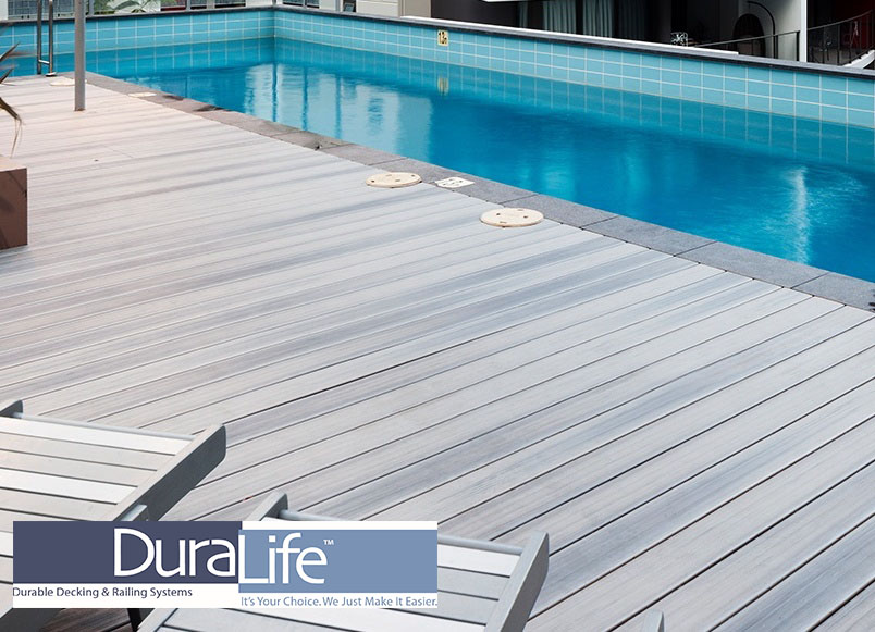 "DuraLife ""Hardwoods"" Decking offers the beauty of finished hardwood decking, with the superior durability of a capped composite decking product. DuraLife ""Hardwoods"" profiles are eco-friendly and create the appearance of hardwood decking with their color variegation and unique surface texture."