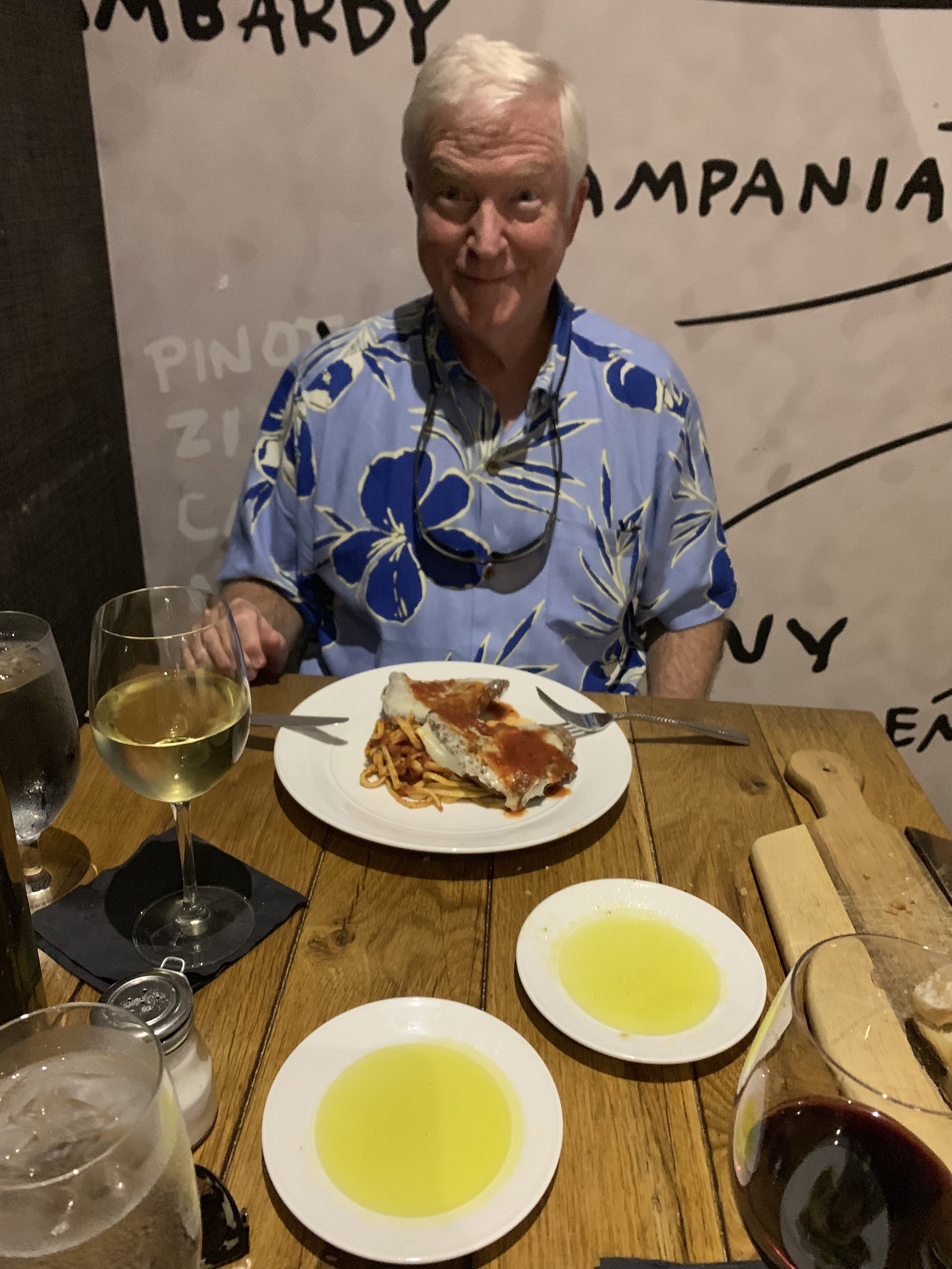 Dad really enjoyed his Chicken Parmigiana and the fresh bread at Vivo Kitchen