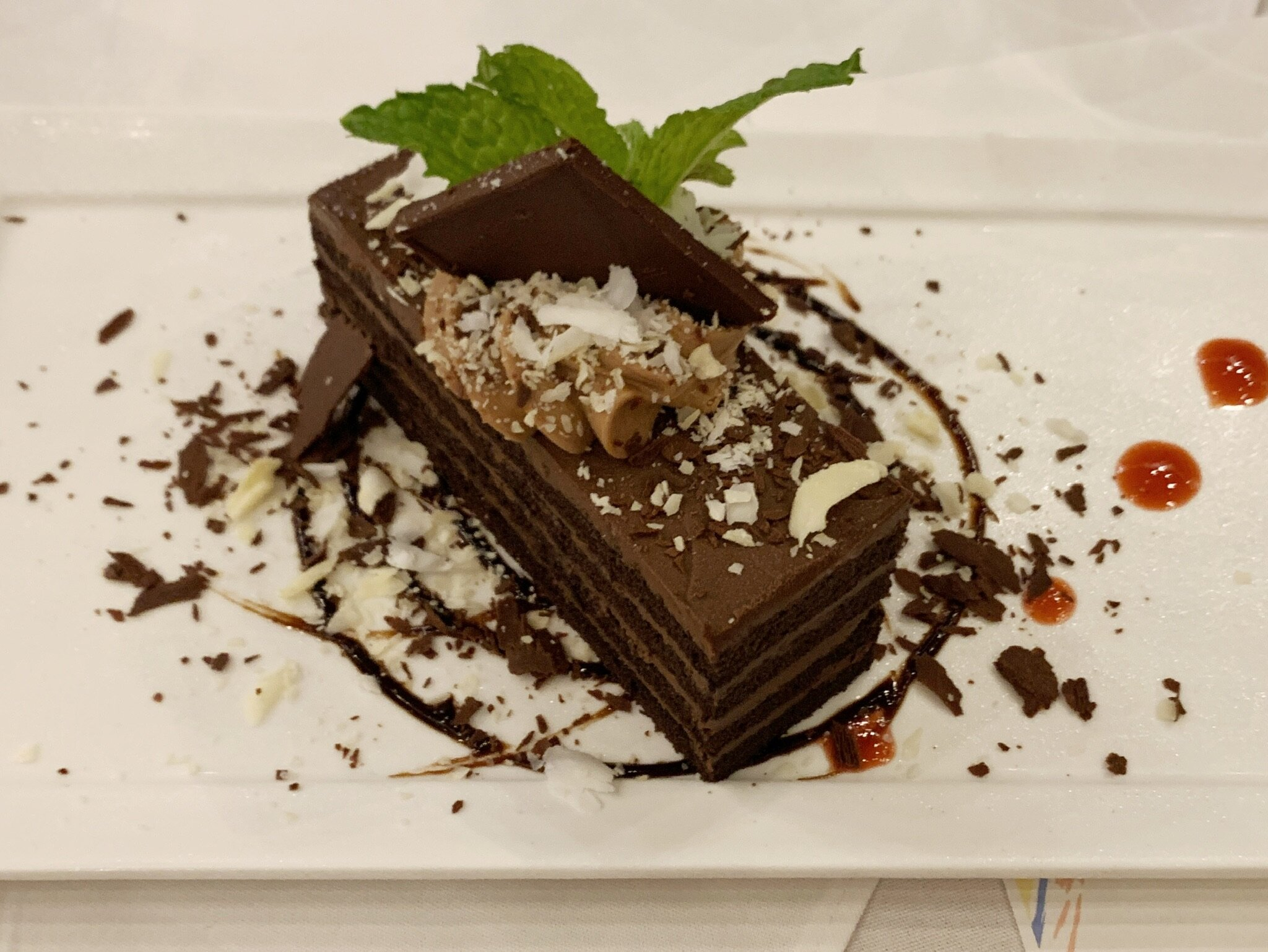 Chocolate slice (special dinner)