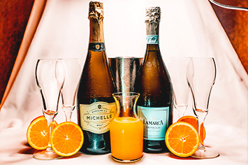 Weekend Drink Specials at Hennessey's Tavern | Every Saturday & Sunday until 5PM  Bottle of Champagne or Prosecco  Domaine Ste. Michelle Champagne or La Marca Prosecco with Fresh-Squeezed Orange Juice.   Only $20!