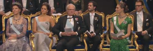 The Swedish royal family at the prize ceremony. Photo: Nobel Media