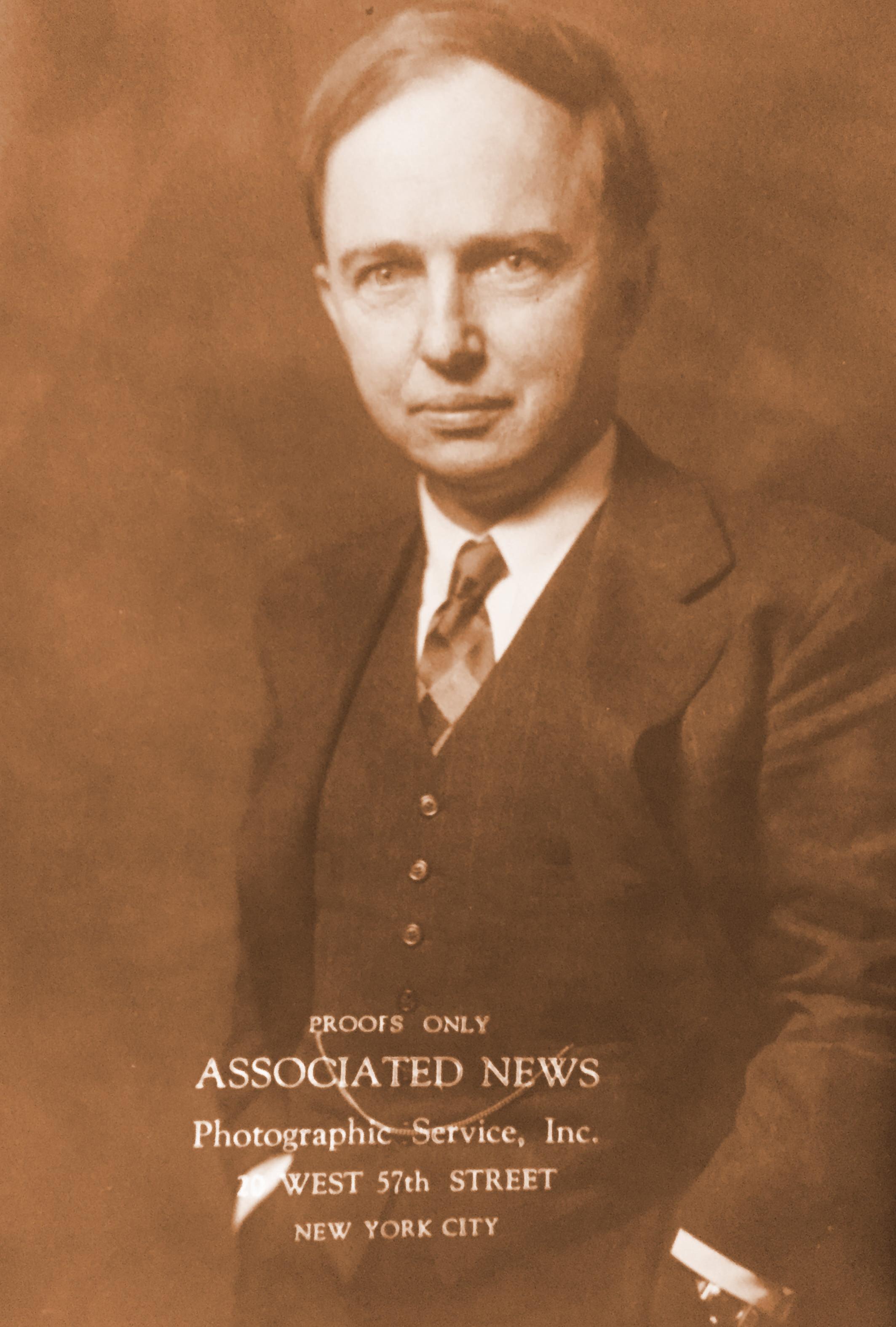 Harlow Shapley Press Photo   Photo source: Harvard University Archives