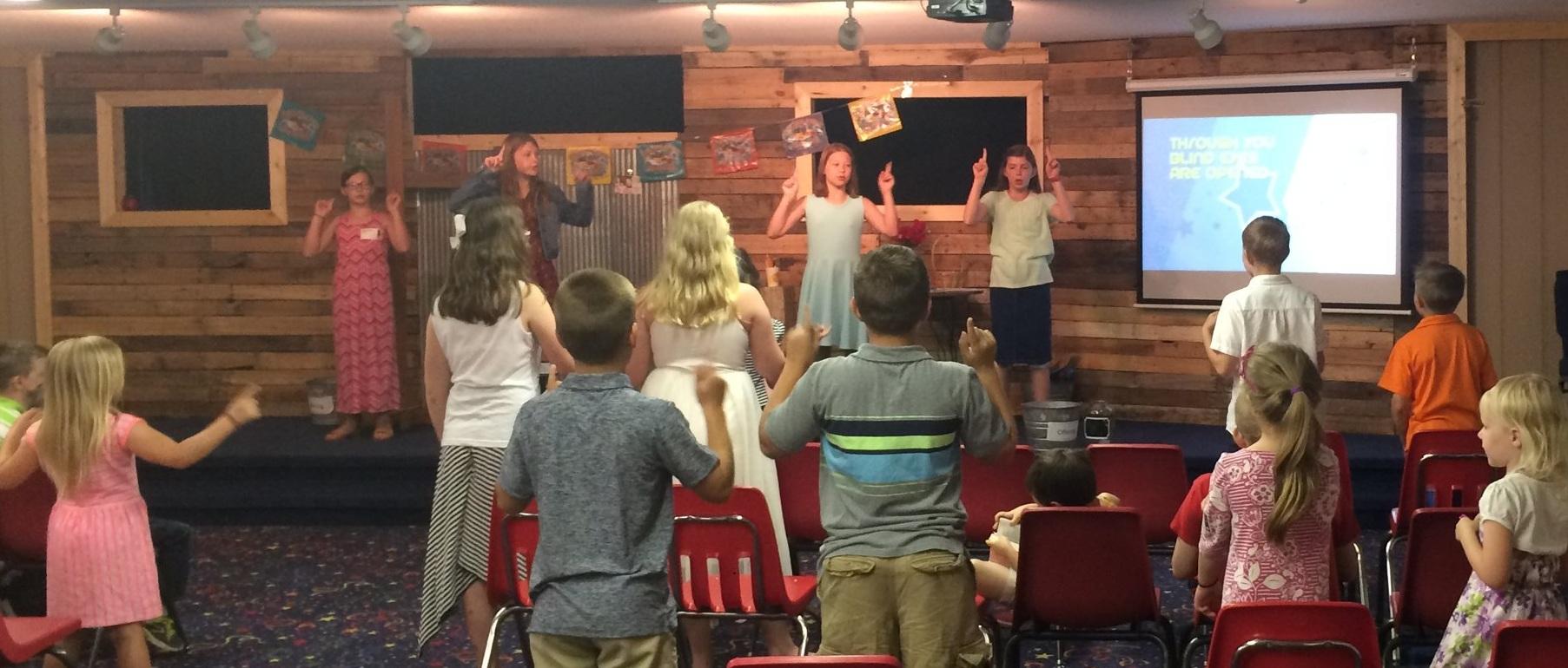 Kids leading kids in worship!