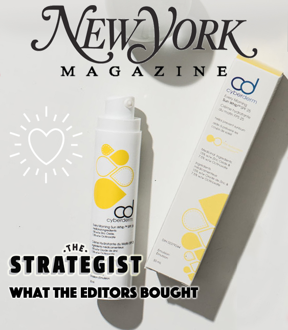 New York Magazine Editors Name Our Sunscreen A Must-Have Product For Their Curated List. - Editors at The Strategist carefully curated a list of their must-have products for spring and our CyberDERM Every Morning Sun Whip was the only sunscreen to make the cut.Find out why it's their go-to SPF.