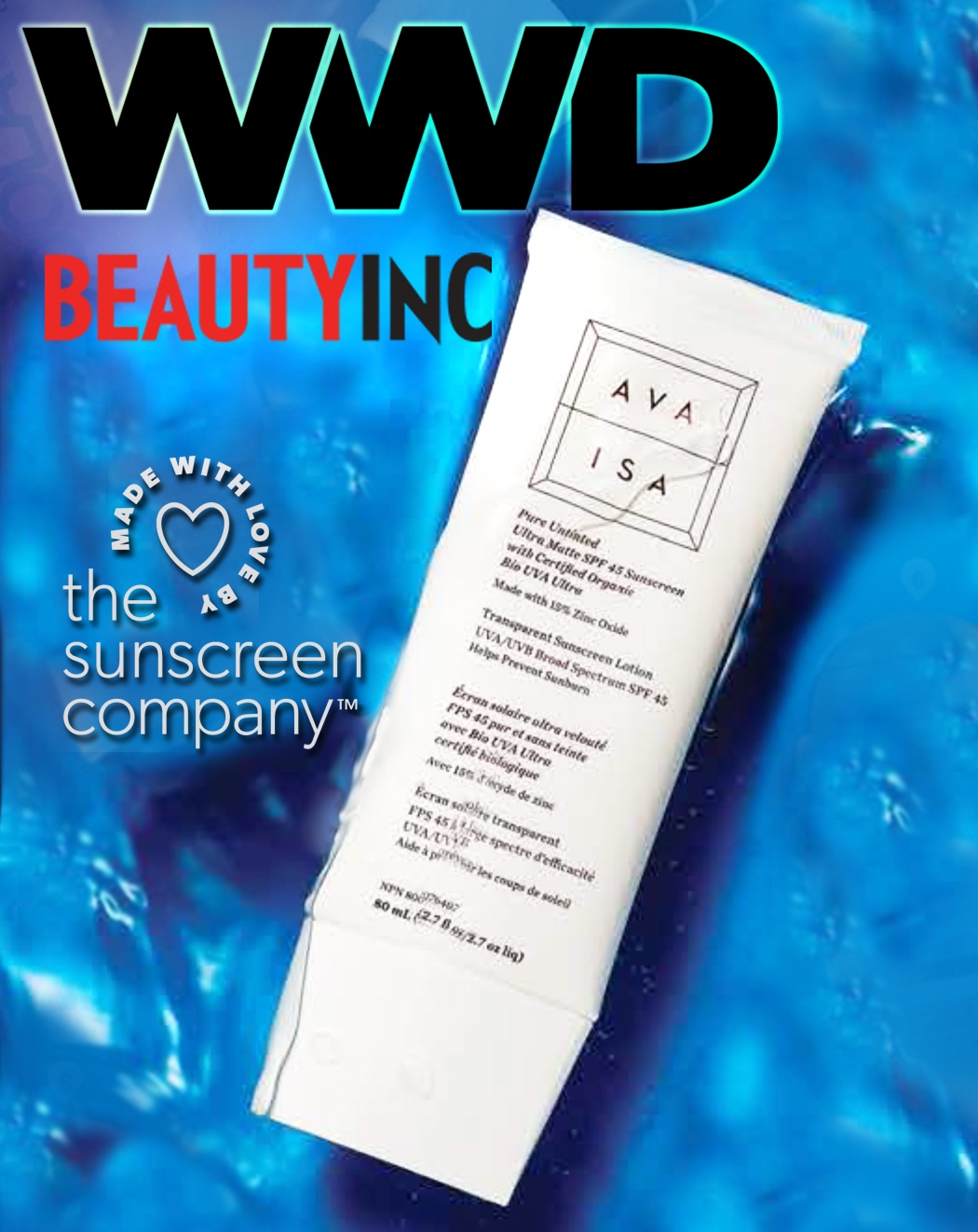 Beauty Inc List Our Ava Isa SPF As A Safer Sunscreen Than Traditional Brands. - Chemicals are out. Clean sunscreen is in. In their latest Beauty Inc issue, the WWD recommends our Ava Isa mineral SPF as a better, safer alternative to traditional formulations. Read the full article to learn more.