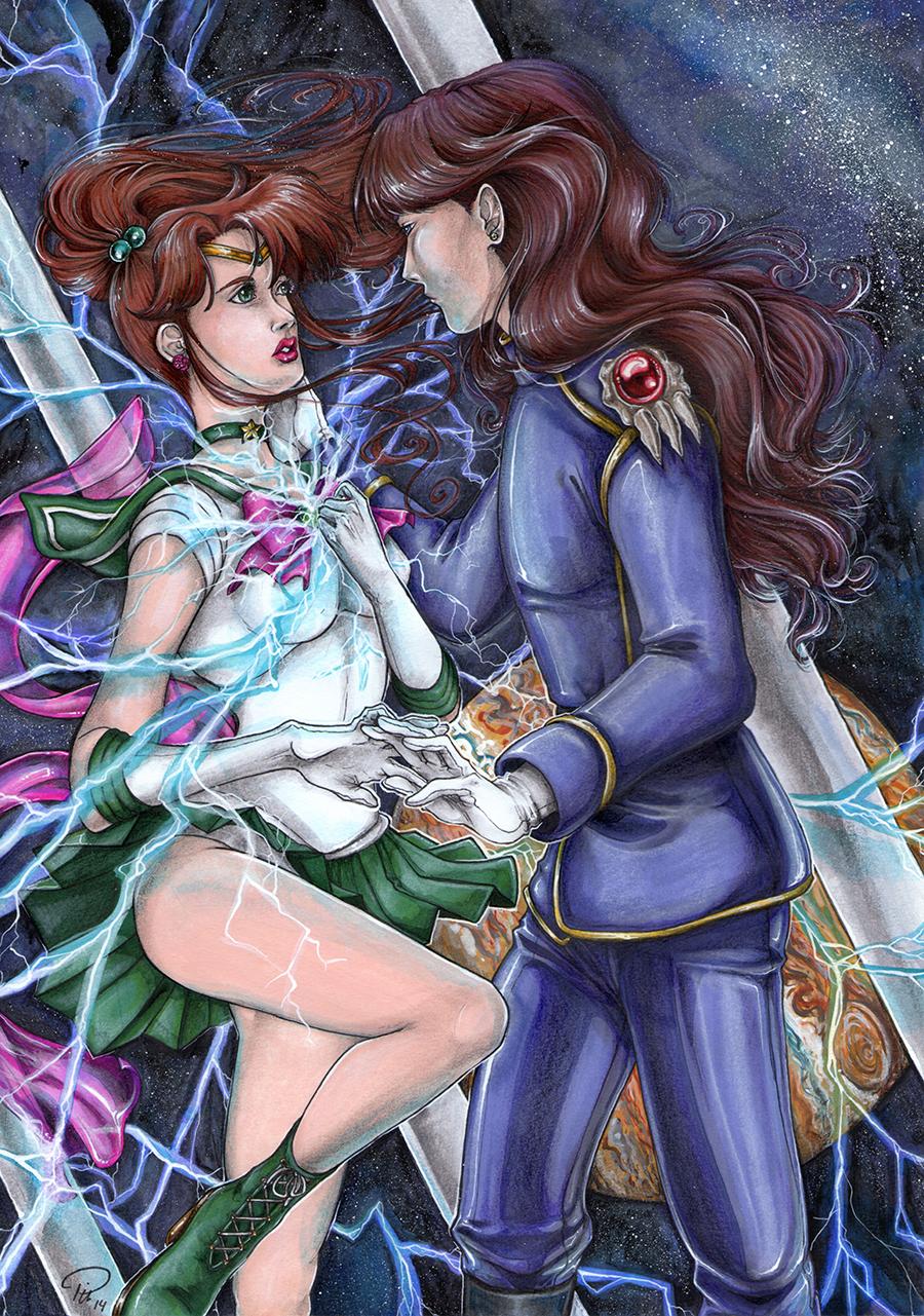 Sailor Jupiter & Neflite– Sailor Moon