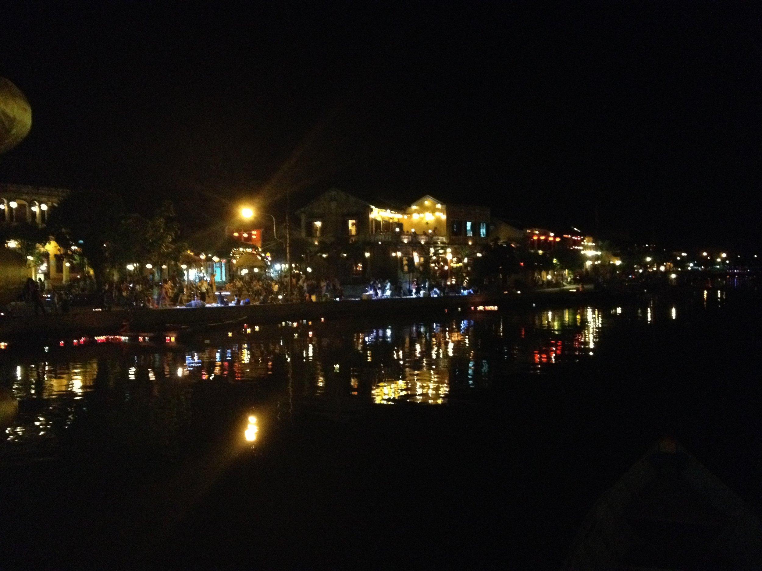 Water reflection in Hoi An, Vietnam