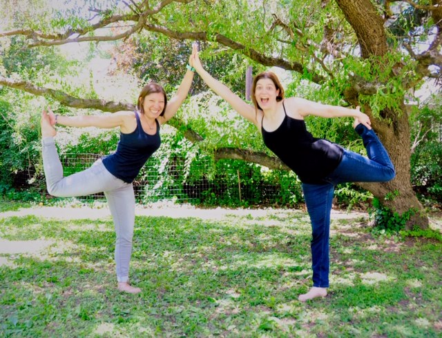 Yoga outtakes of myself and my friend Aly, who I met in Yoga Teacher Training, during a yoga photo shoot.