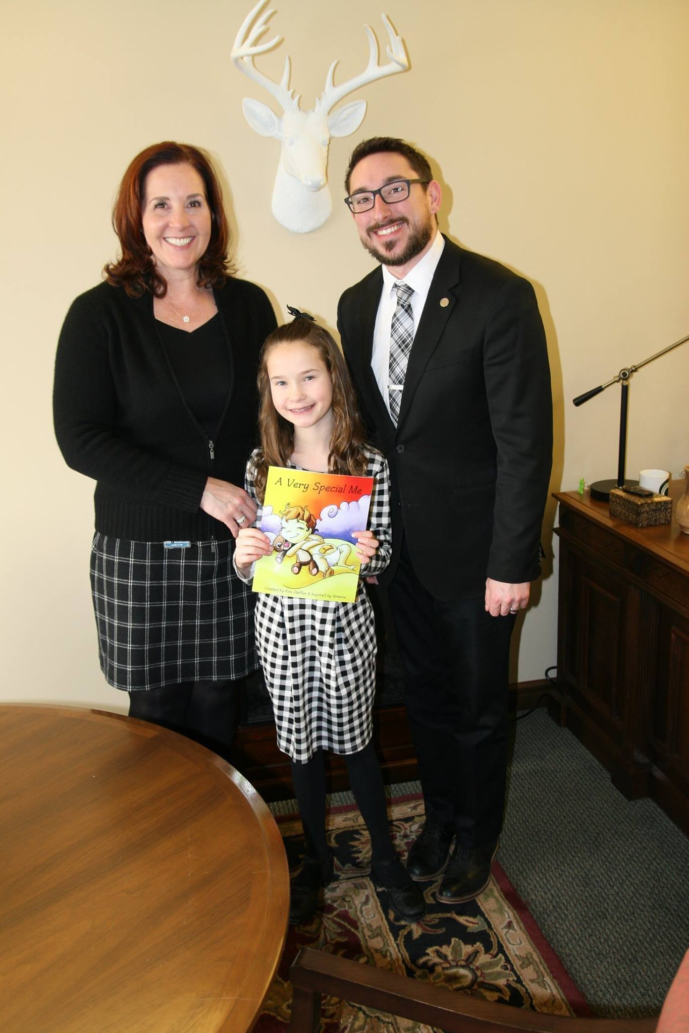 Brianna with rep. hornberger and commissioner phil kraft in 2018  (photo courtesy of kim steffen)