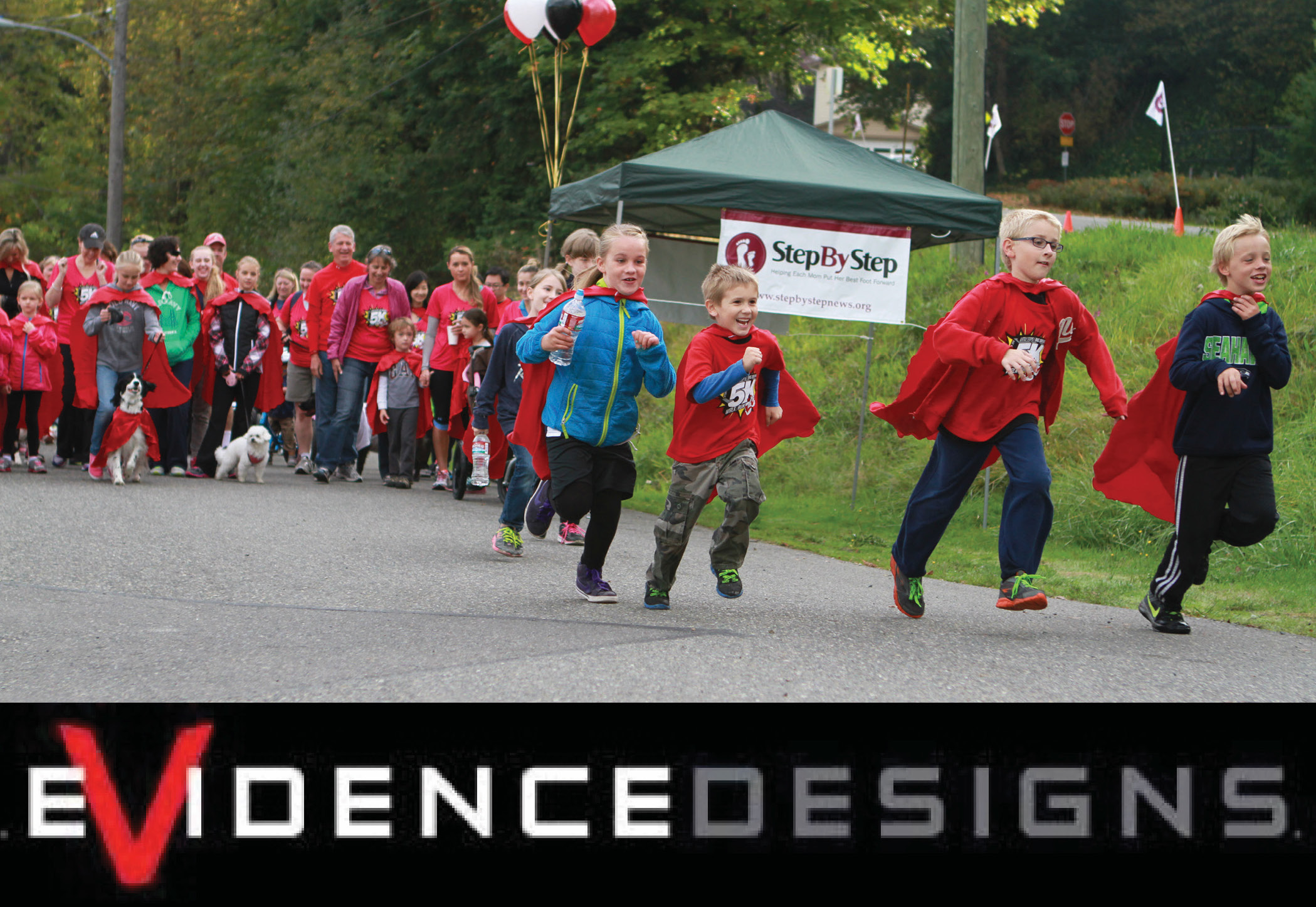 OCTOBER - Jim Woolace and Evidence DesignsJim donated his graphic design skills to help us design the event t-shirt for this year's fundraising 5k Walk/Run. He also donated his time as a professional photographer to cover the event and took some fantastic photos!