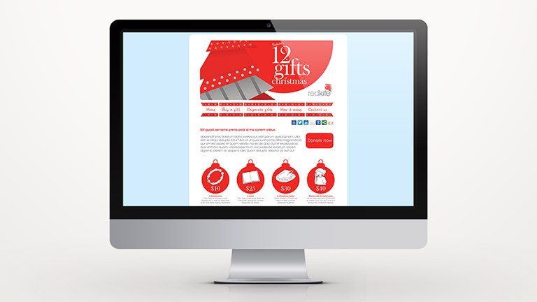 'Christmas Gift in Lieu' Campaign Site