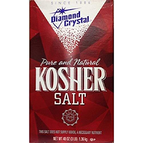 kosher salt for gentle scrubbing