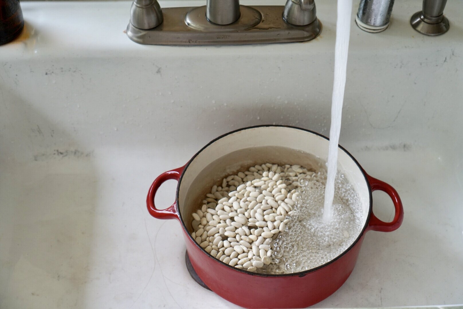 pot of cannellini beans