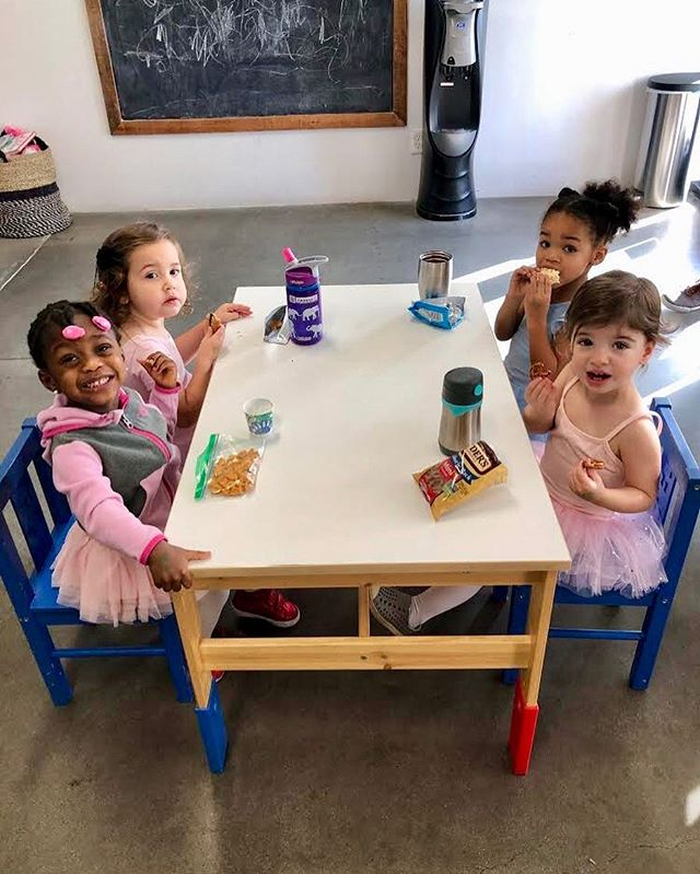 Saturdays are for snacks, smiles, and silly ballerinas! 💗🌸🎀