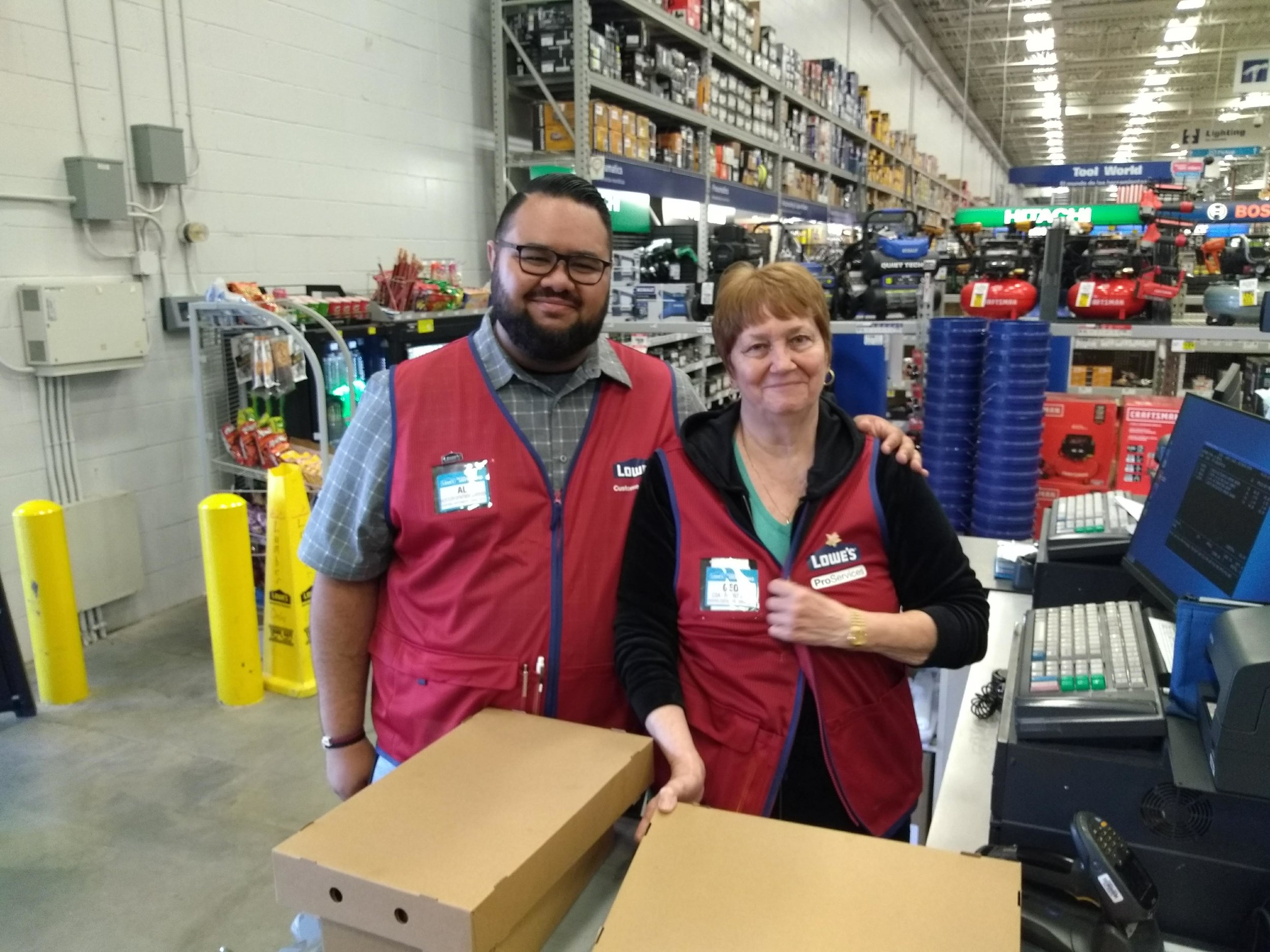 Lowe's Employees helping with costs