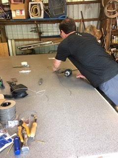 Welding flooring together