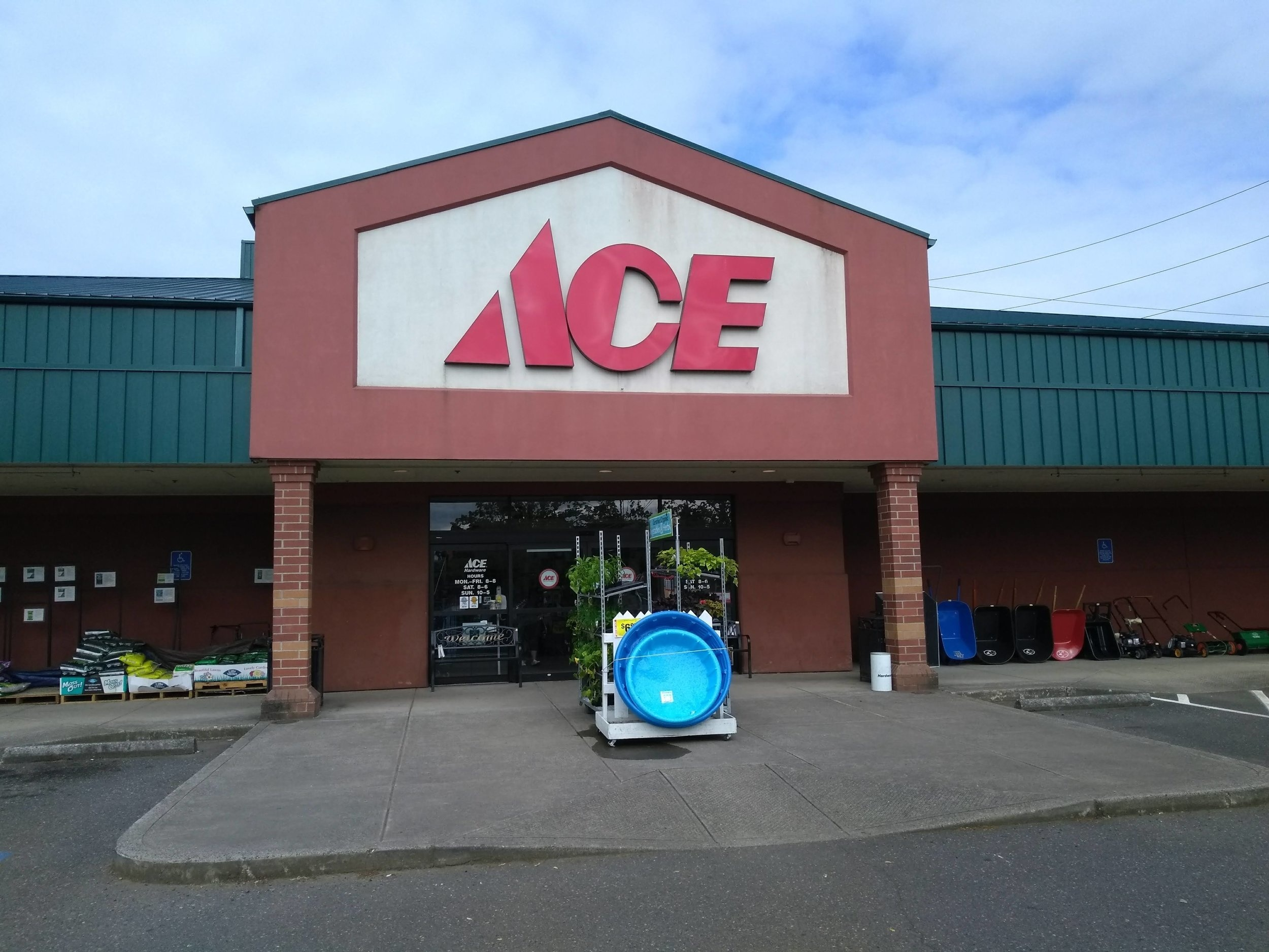 Ace Hardware donated 95% of plumbing supplies