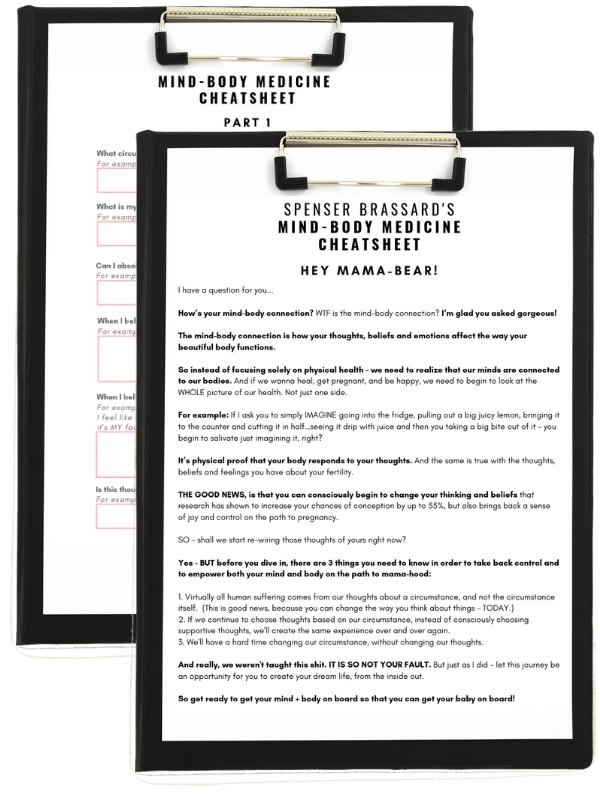 mind-body medicine cheatsheet