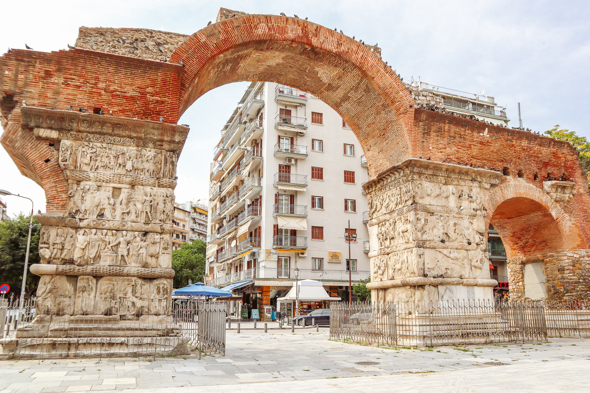 We stumbled upon the Arch of Galerius while walking around Thessaloniki