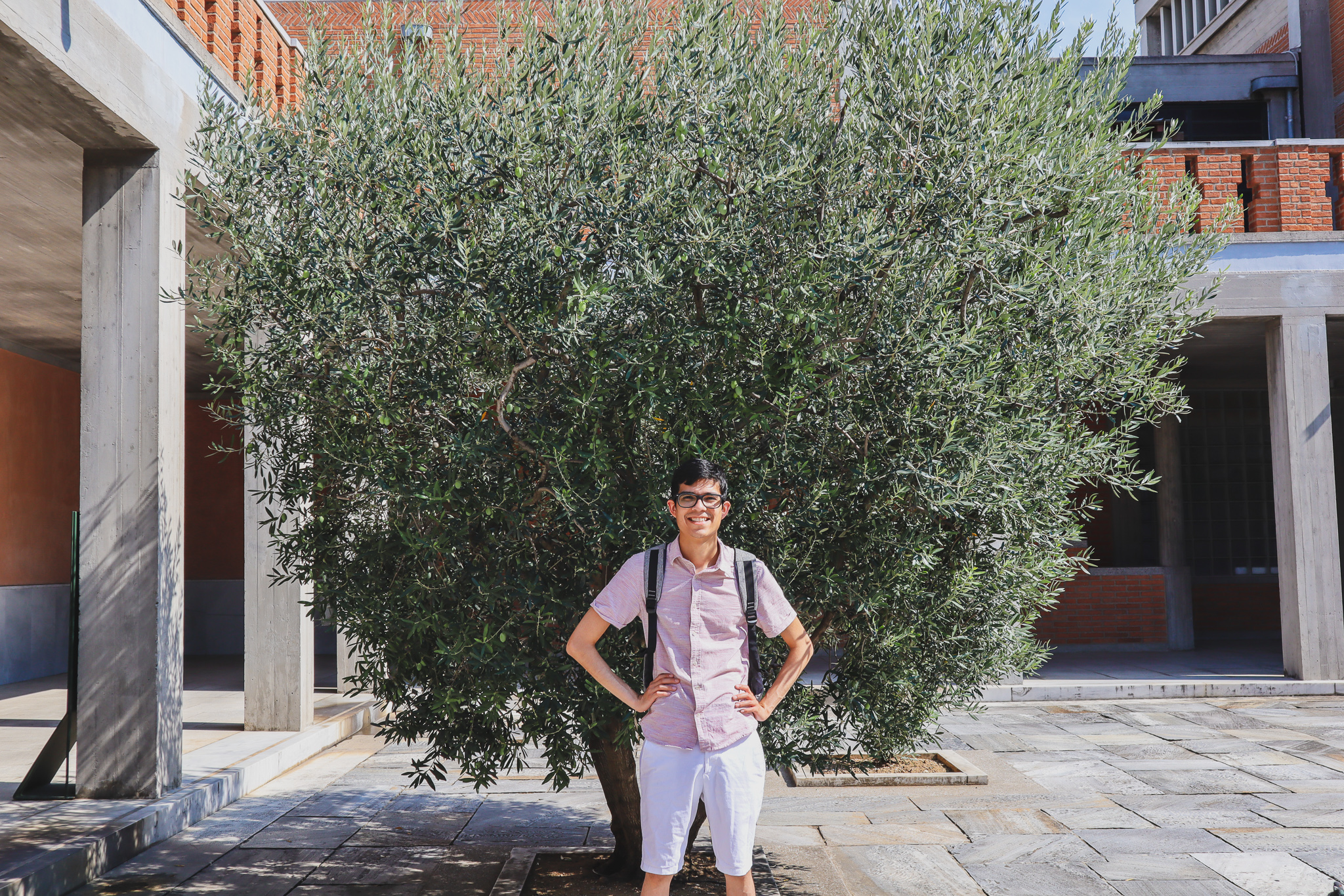 Taken in the courtyard of the Museum of Byzantine Culture