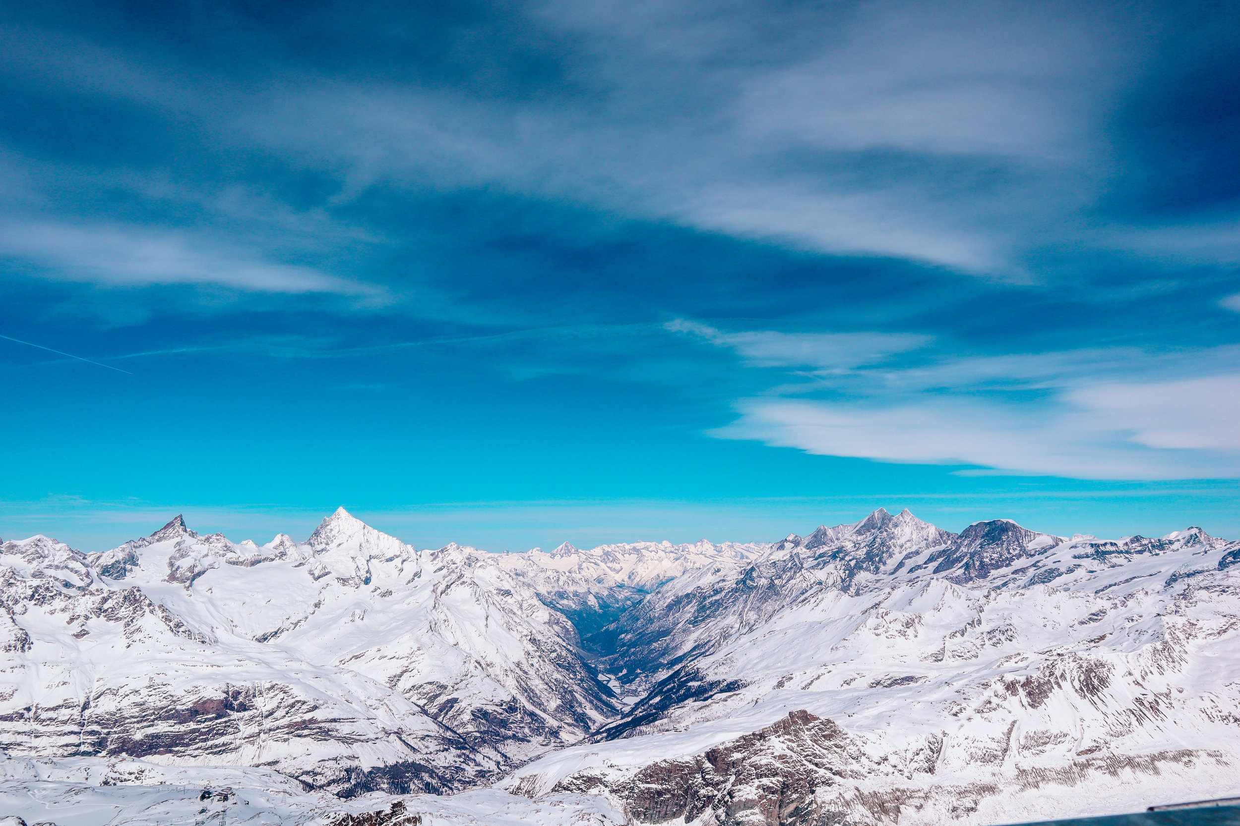 Views from our excursion to the top of the Matterhorn