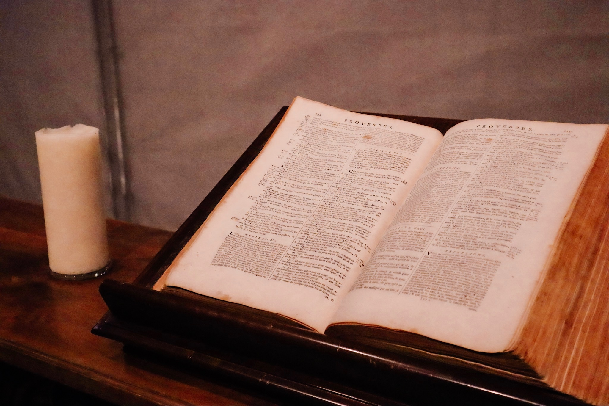 French Bible at the St. Pierre Cathedral