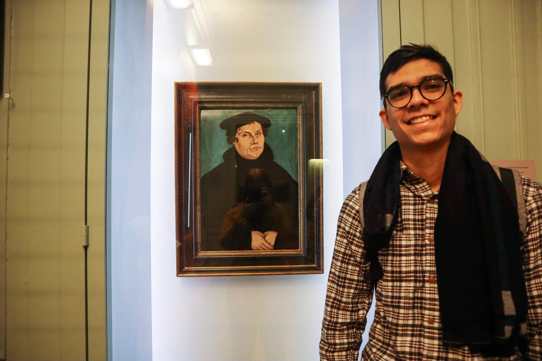 The famous portrait of Martin Luther