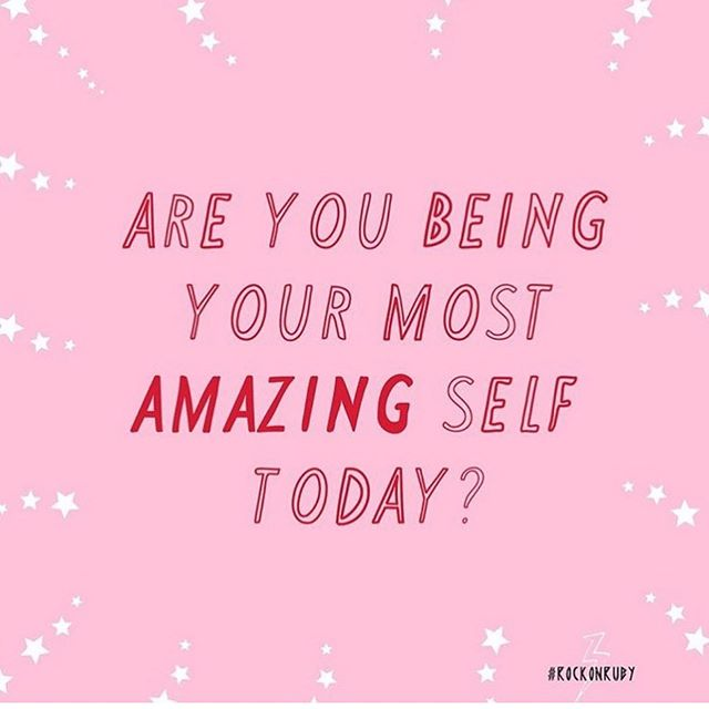 Well, are you? Comment down below how you're being your most amazing self! 📸: @rockonrubyxx