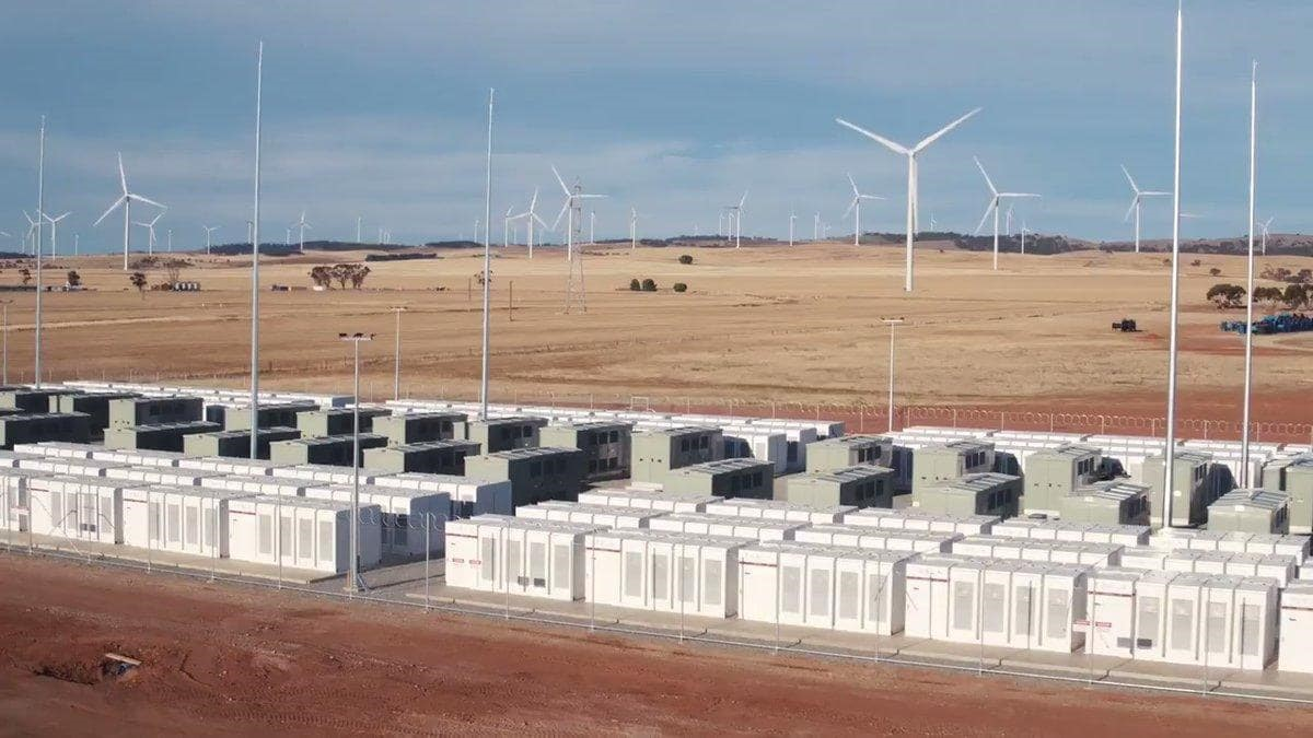 Figure 3: The world's largest  lithium ion battery  - 100 MW Powerpack system in South Australia