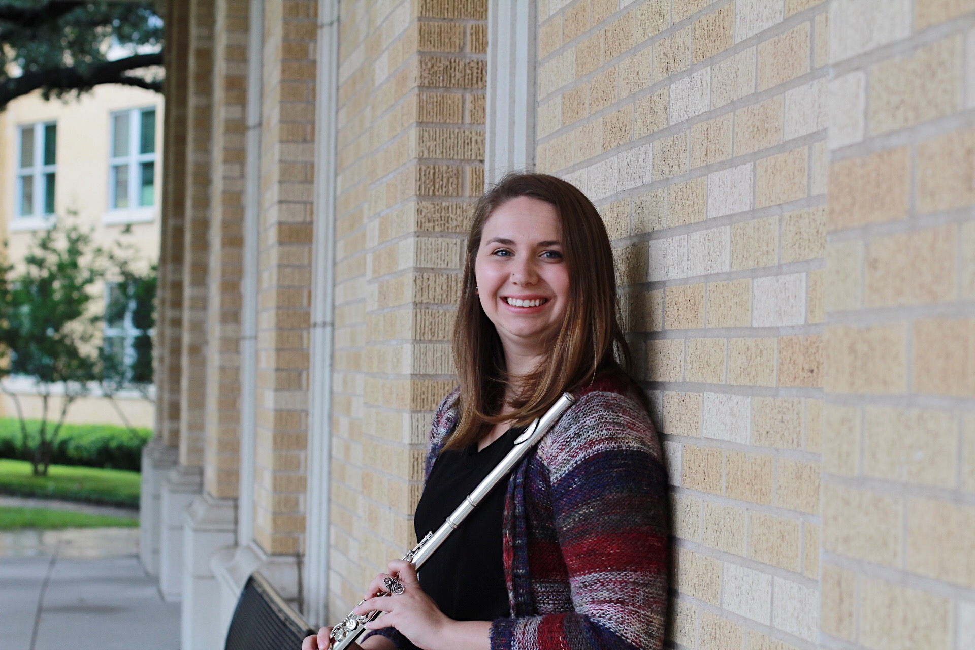 Regan Campbell - Regan Campbell is a flutist studying Music and English at Texas Christian University. She began playing flute in Junior High and has loved it ever since. While she loves playing in ensembles and orchestras, her favorite way to present music is by playing with her younger brother. Regan plans to Graduate in May of 2019 and hopes to continue teaching and performing as well as earning her masters degree in English.