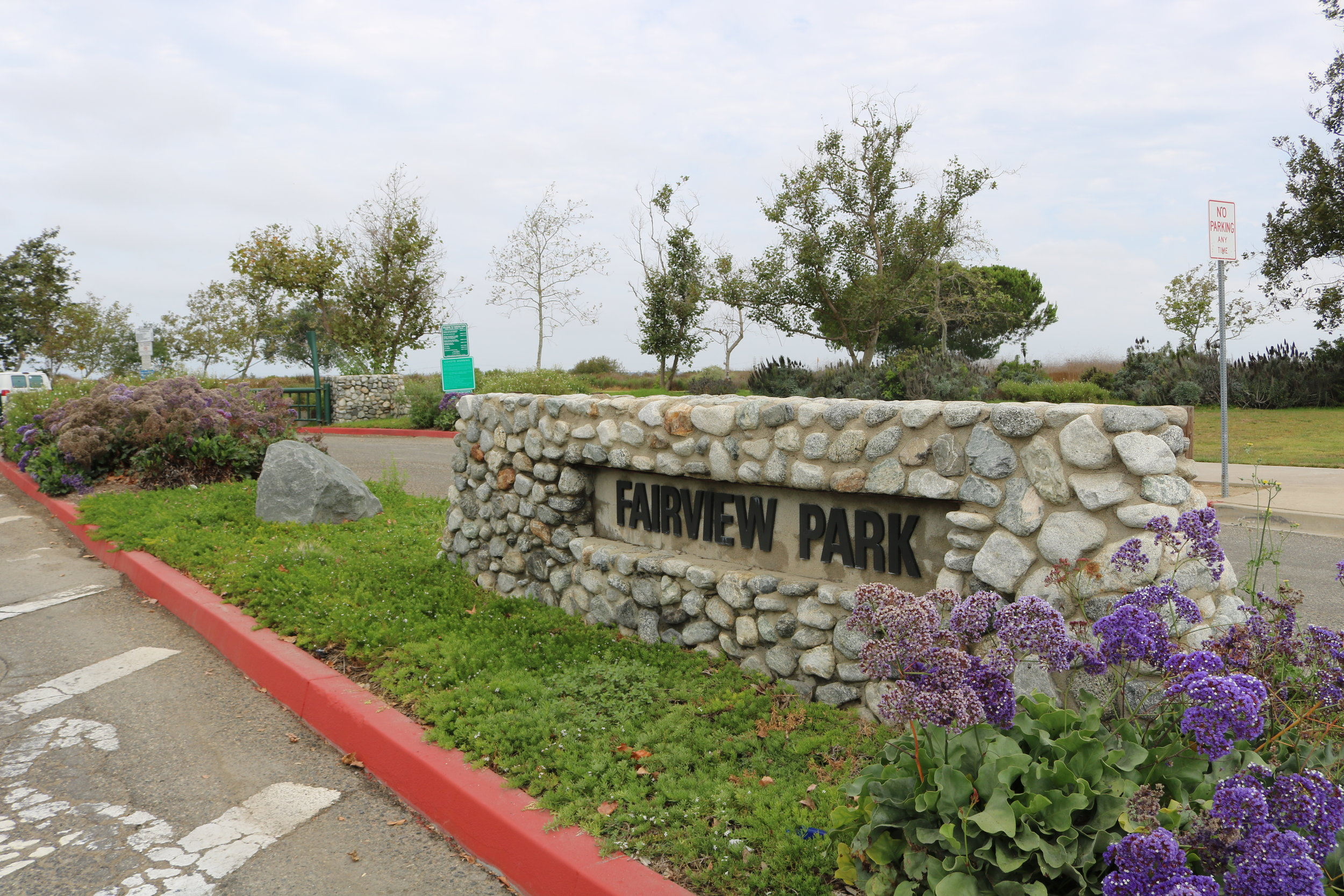 Fairview Parking Lot Entrance Sign off Placentia Avenue