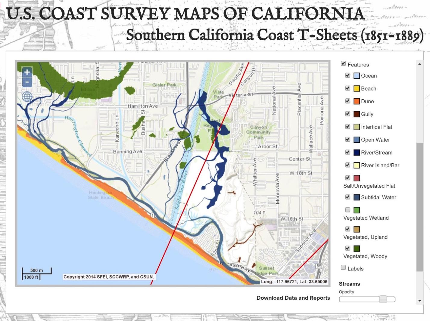 US Coast Survey Maps of California T SHeet
