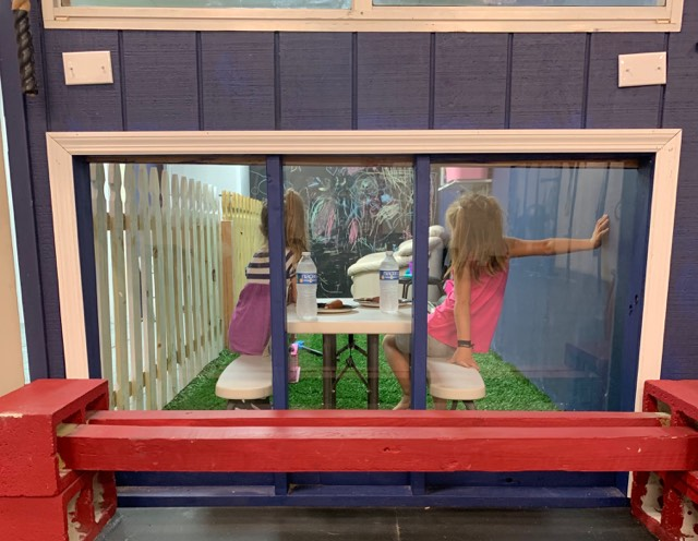 Plexiglass Kids Room  So you can watch them while you sweat!