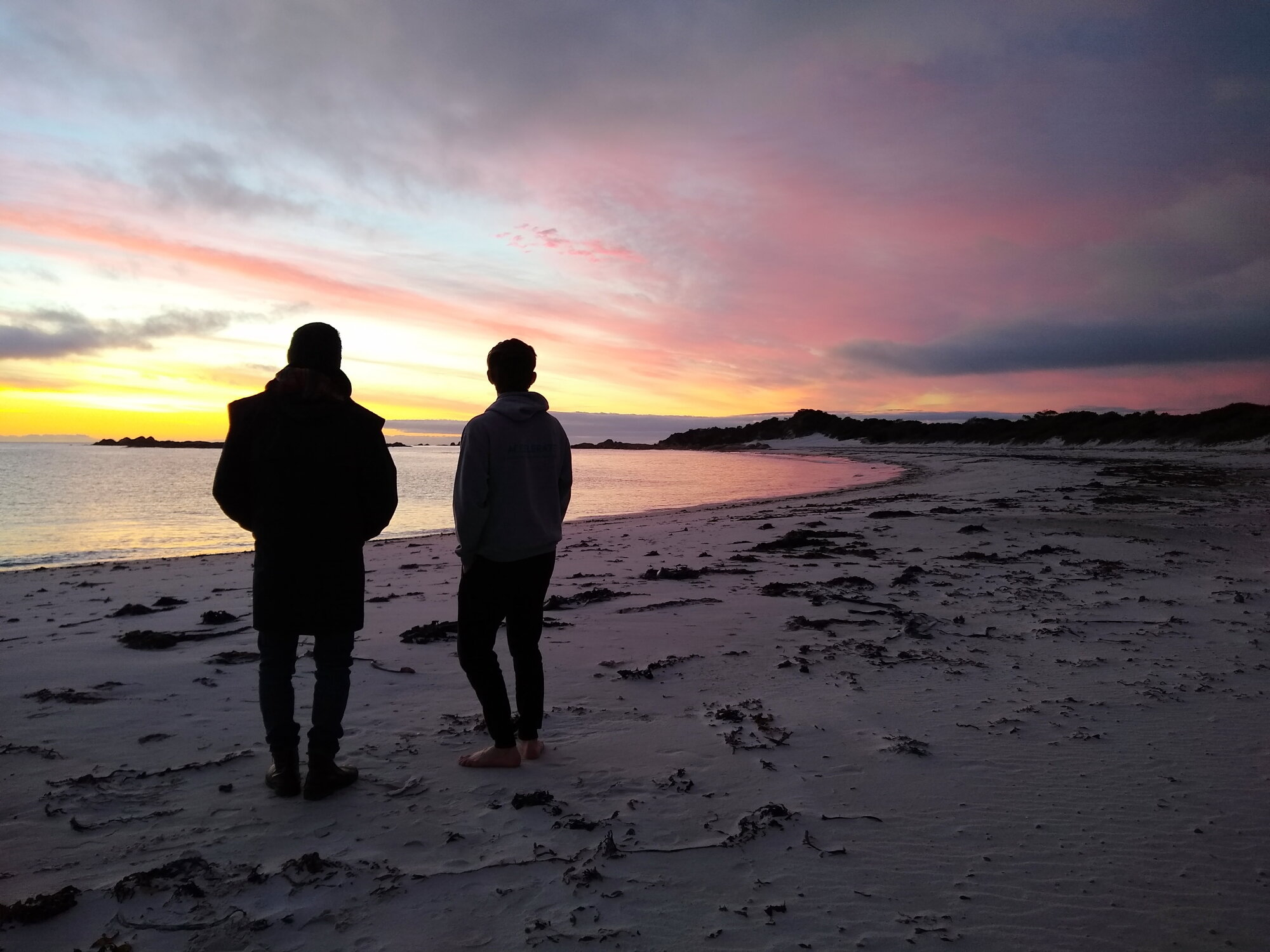 The Bay of FIres Walk For Spiritual Seekers Sunrise.JPG