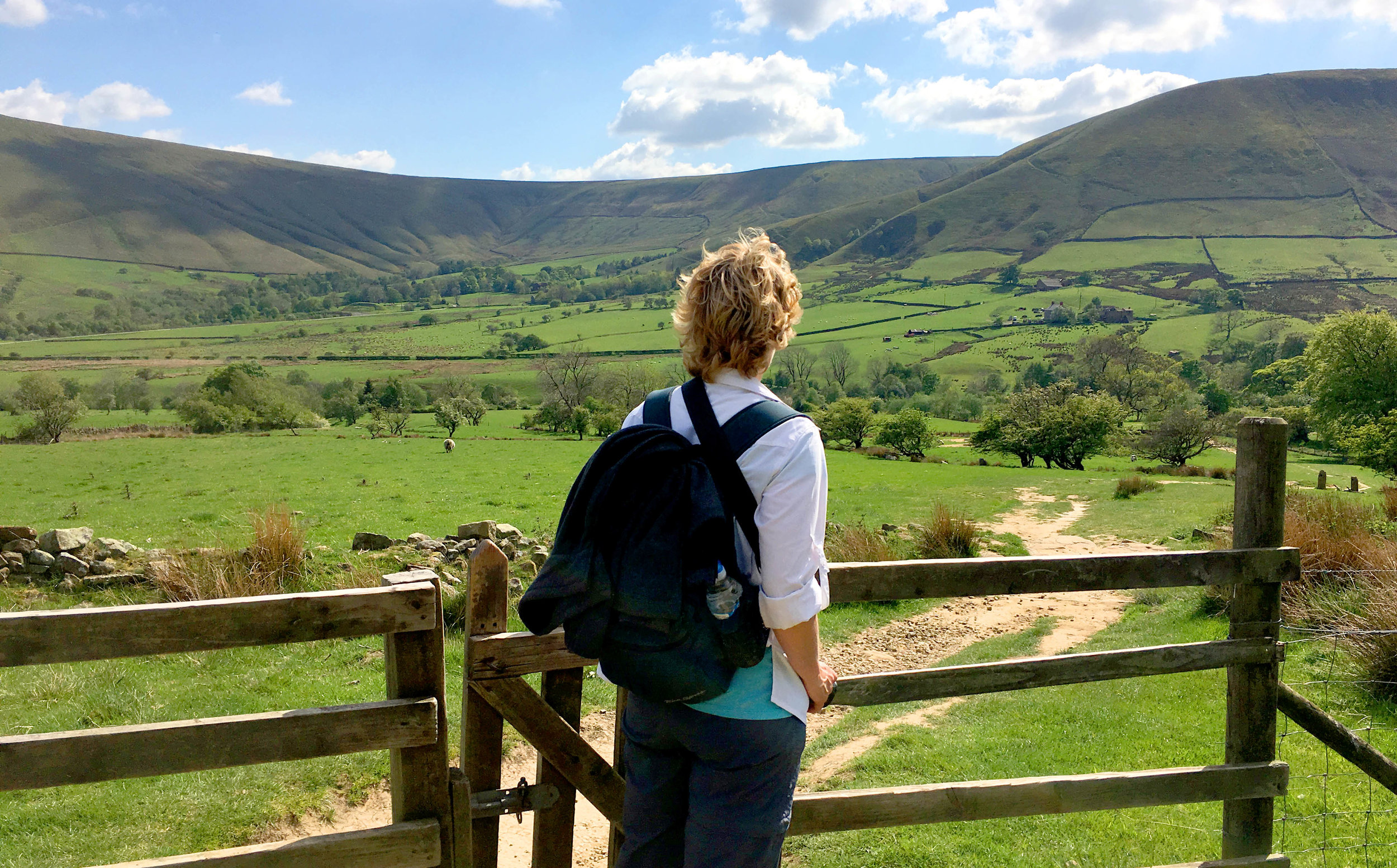 Gathering inspiration on a recent hike through the Yorkshire Dales National Park.