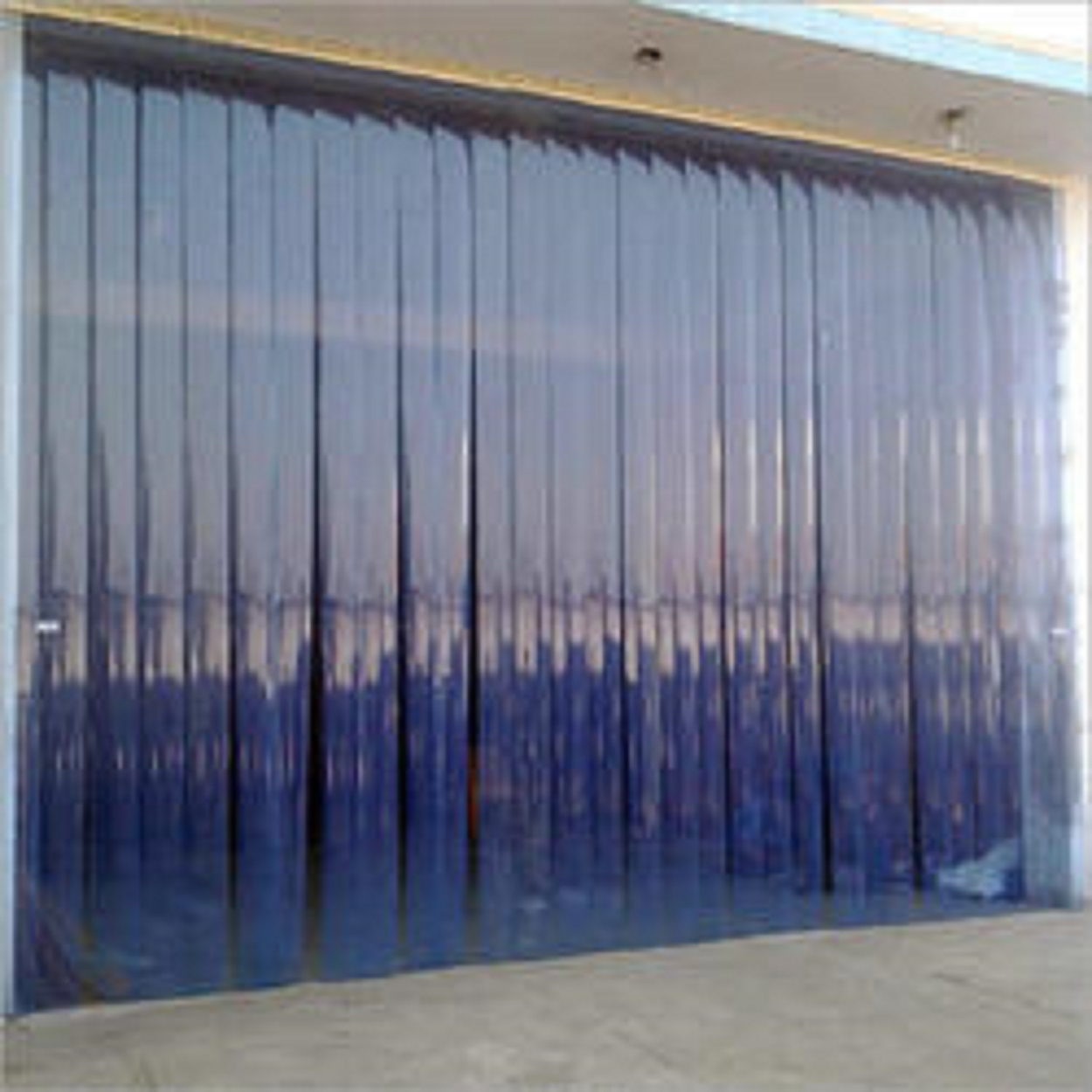 Commercial Curtains - We use these to cover the doghouse doorways