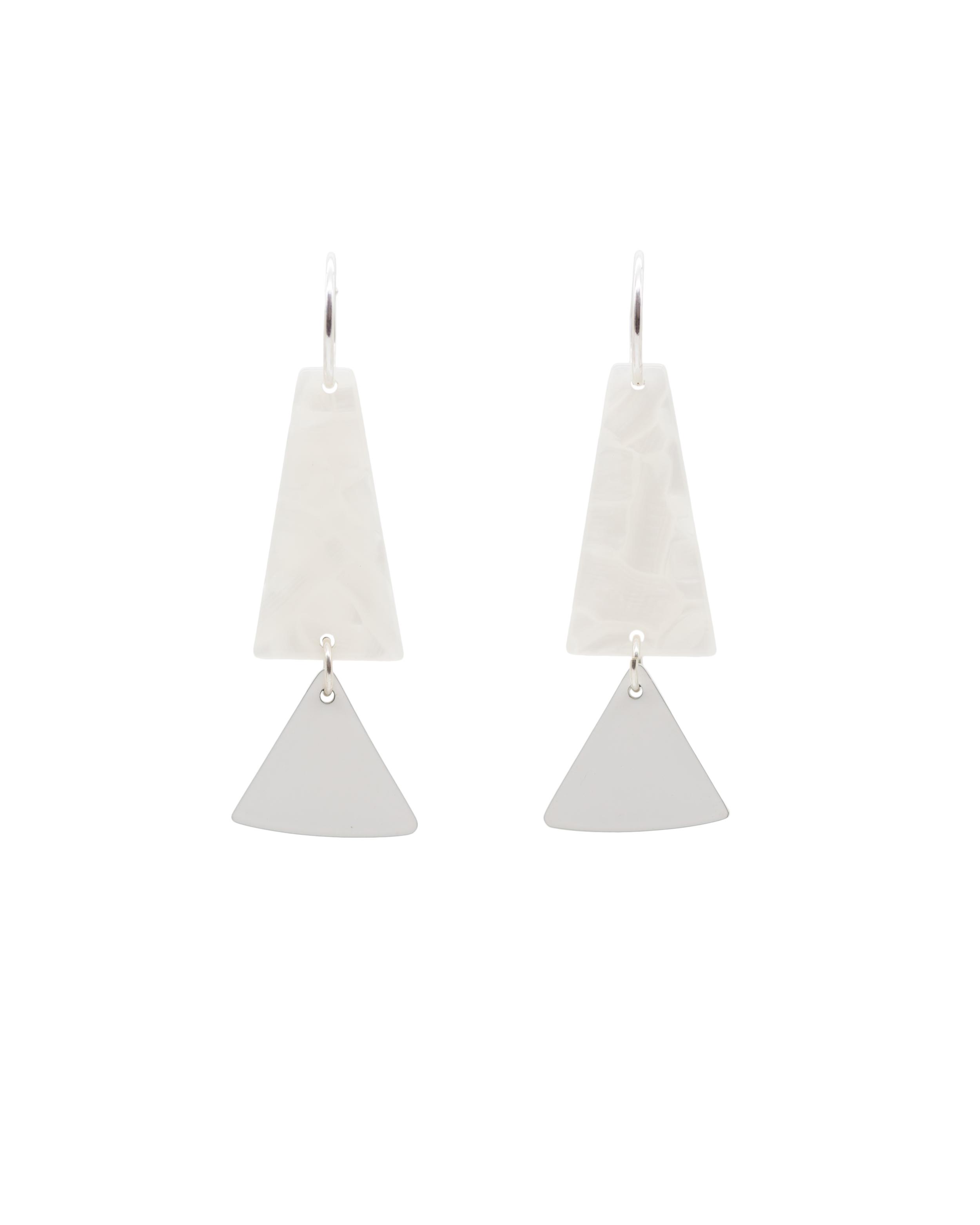 The  Iris Hoop Earrings in White
