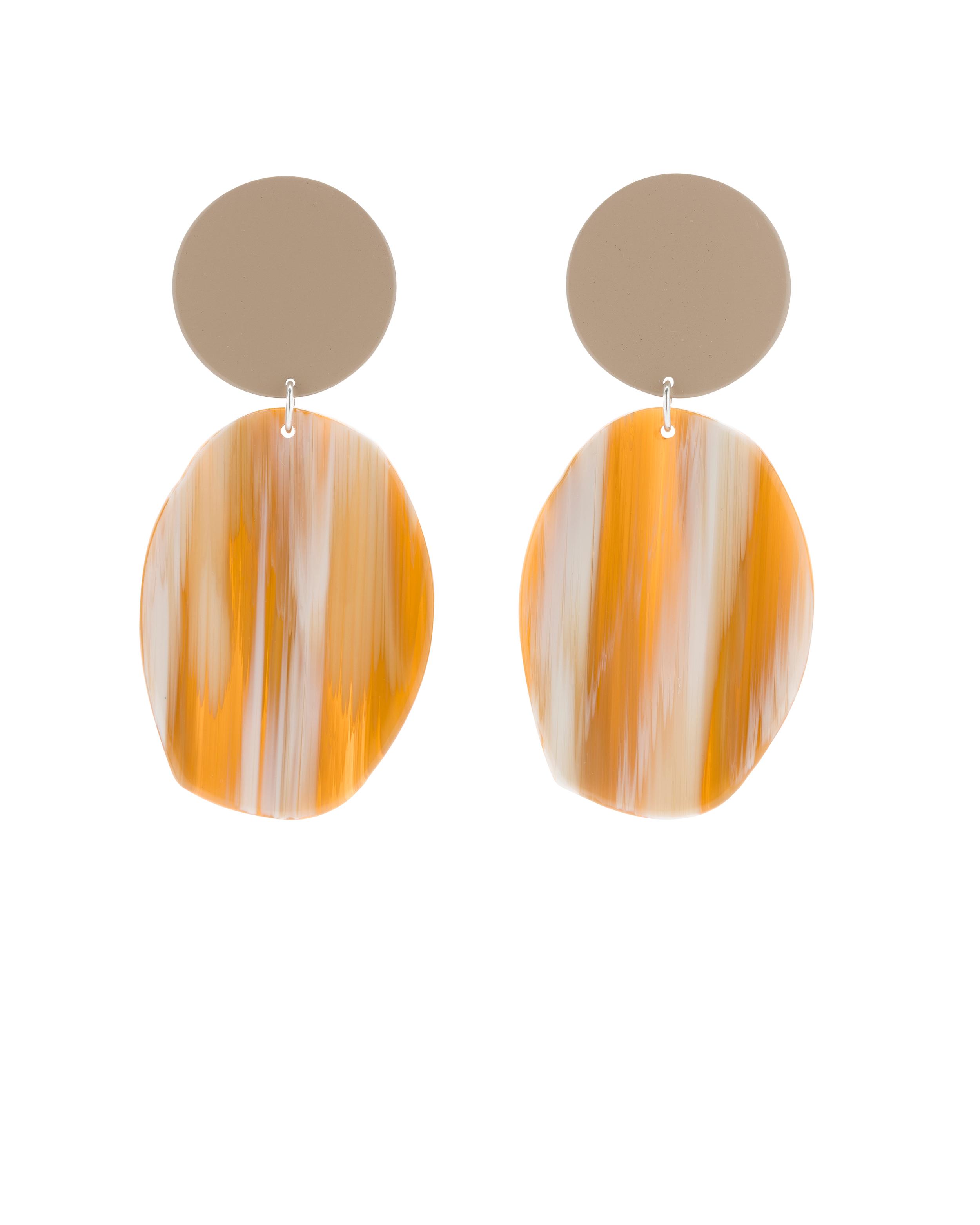 The  Geology Earrings in Tan