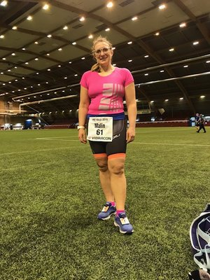 Malin Haglycke at the Personliga Rekordens Tävling 6-timmars (the Race of Personal Records 6 hours) 2018