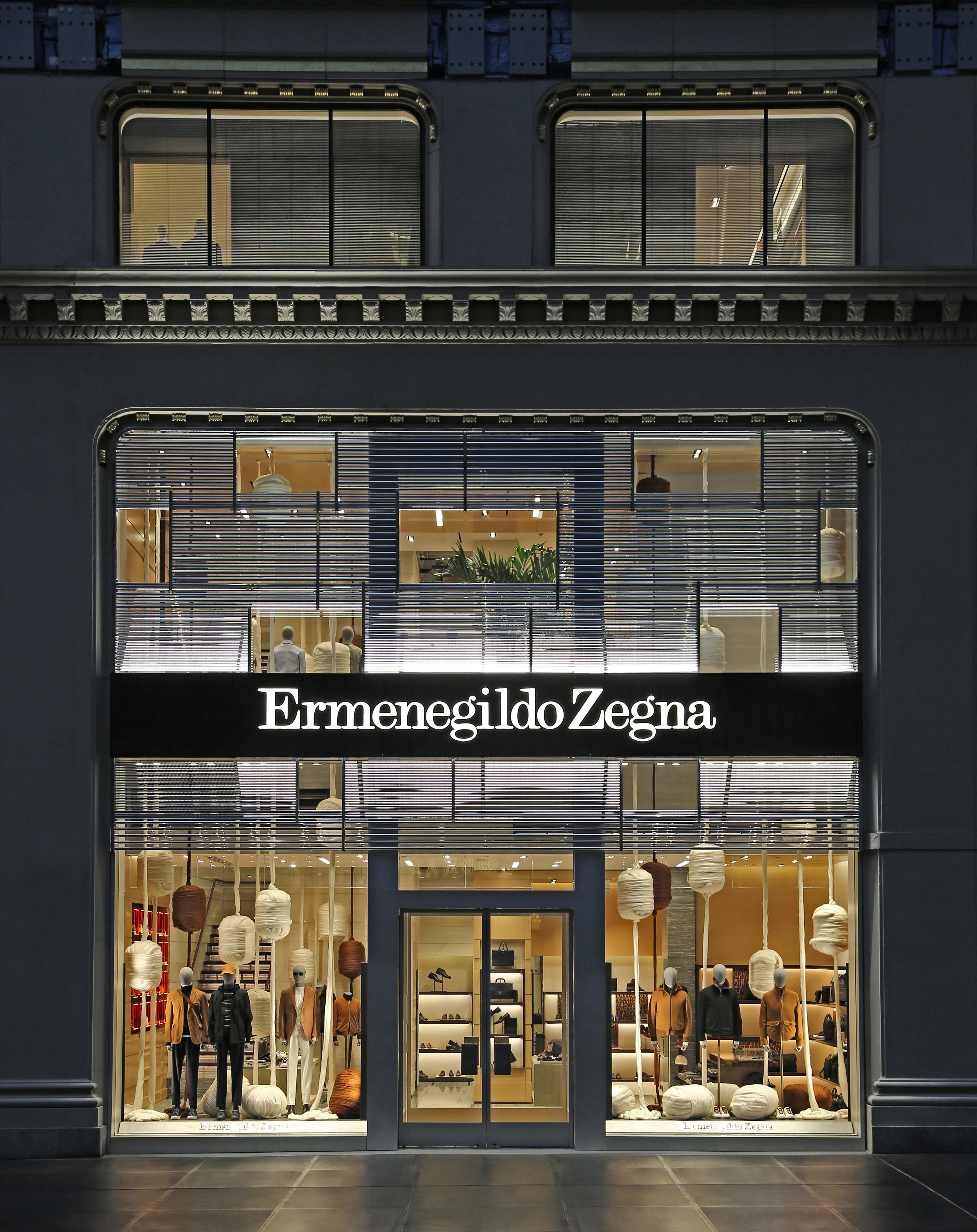 Ermenegildo Zegna - Ermenegildo Zegna unveil its latest Global Store in New York City, located at 4 West 57th Street, in the historic Crown Building.