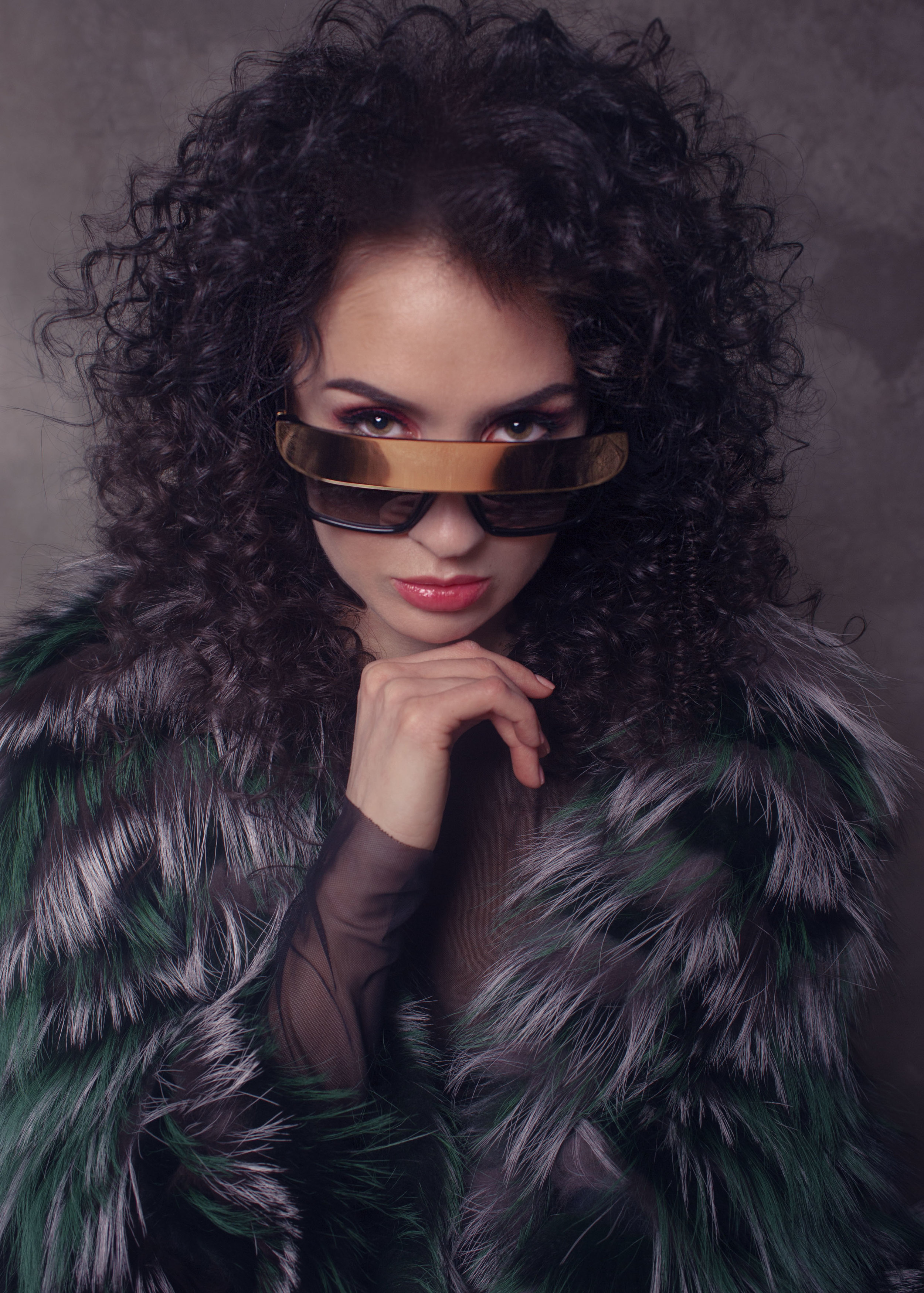 Fur Coat: Stylist  Blouse by Zarina  Sunglasses by Anna Karin Karlsson