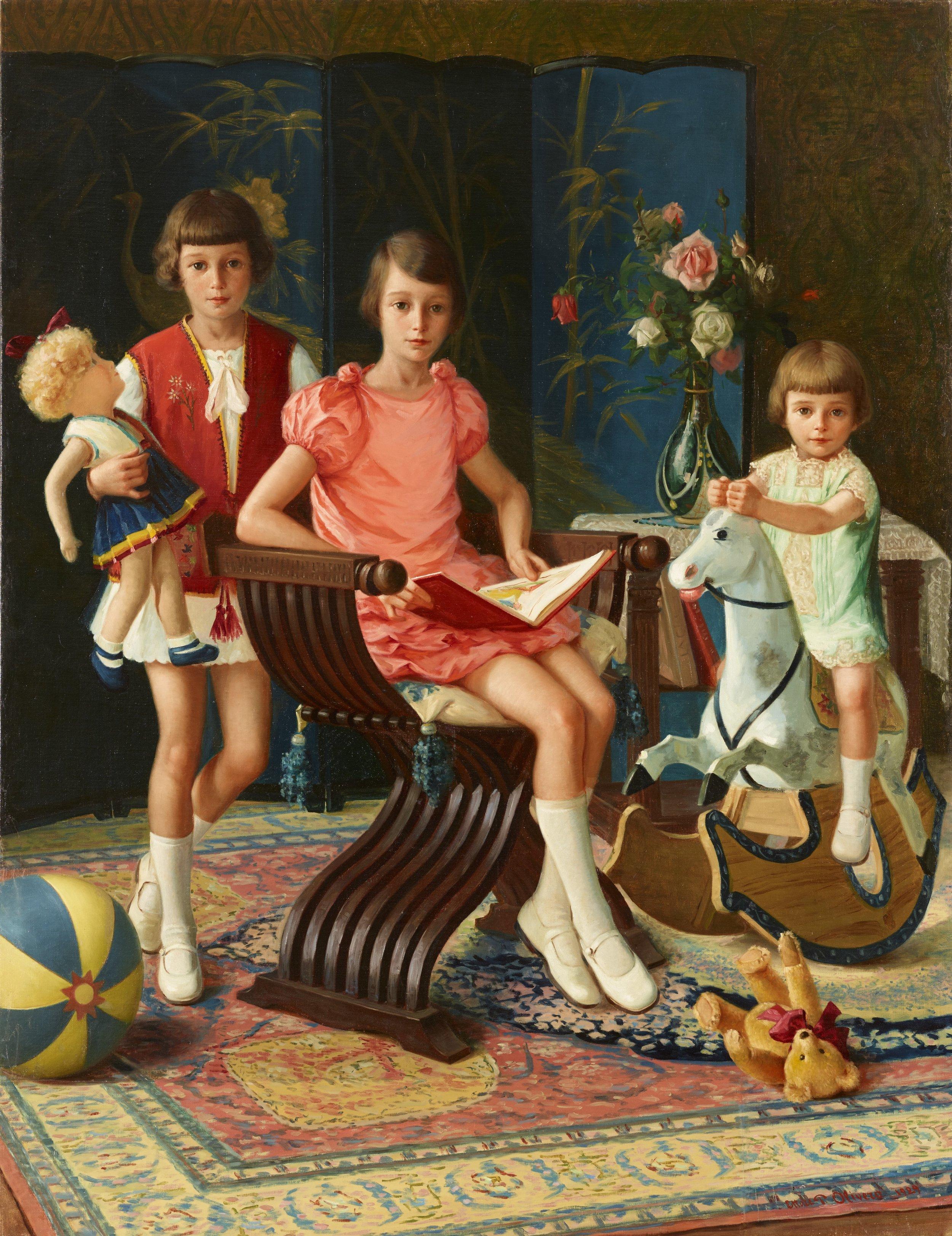 Ettore Pistoletto Olivero, Le tre figlie di Zegna, 1929  Credit photo: Mart
