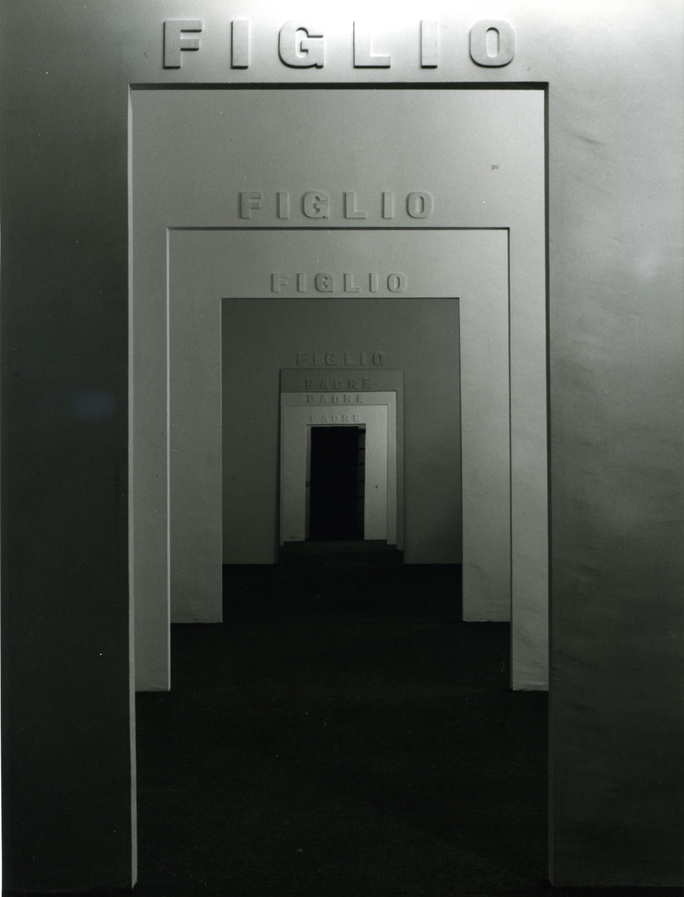 Michelangelo Pistoletto, Le stanze, Dicembre, 1975