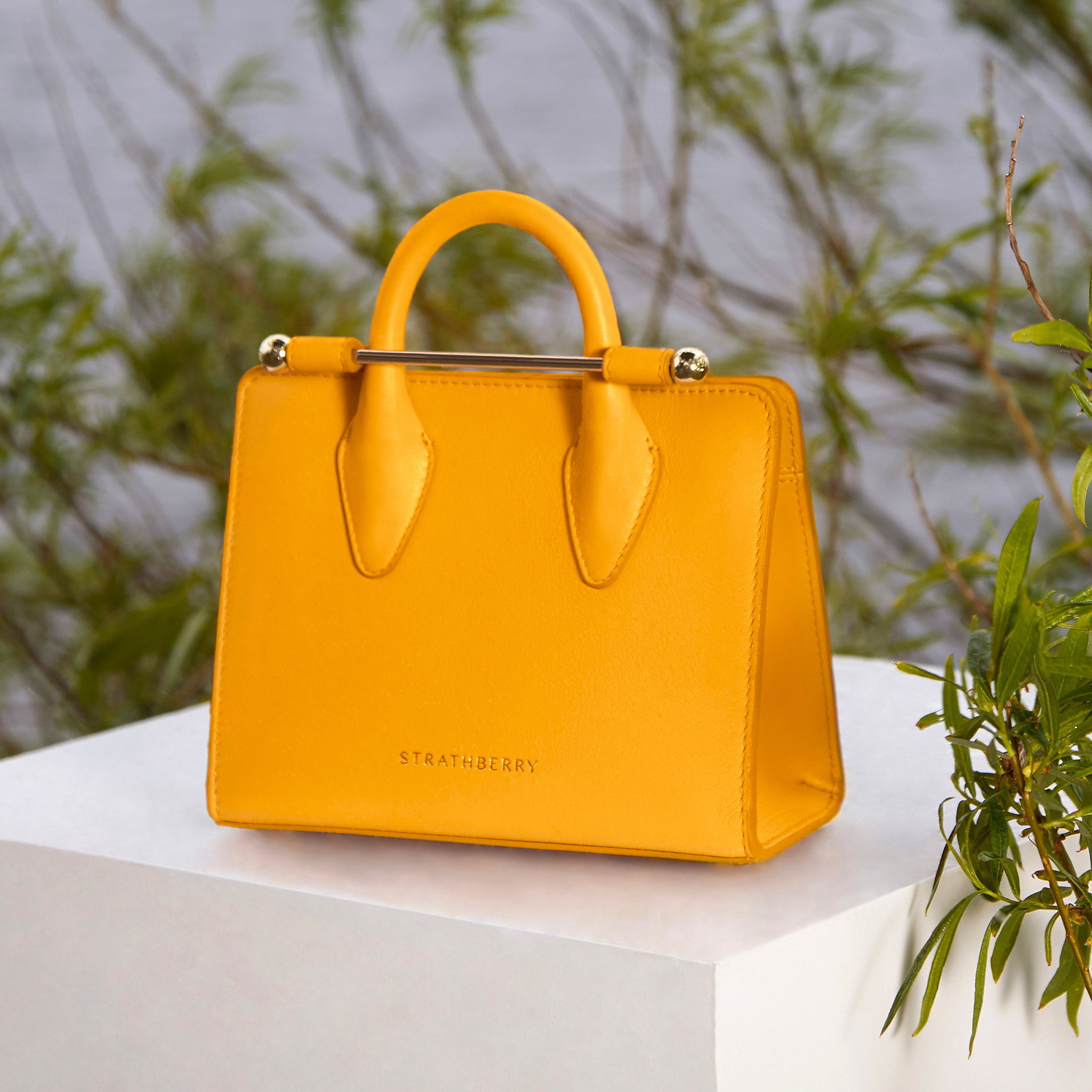 The Strathberry Nano Tote – Blossom Yellow